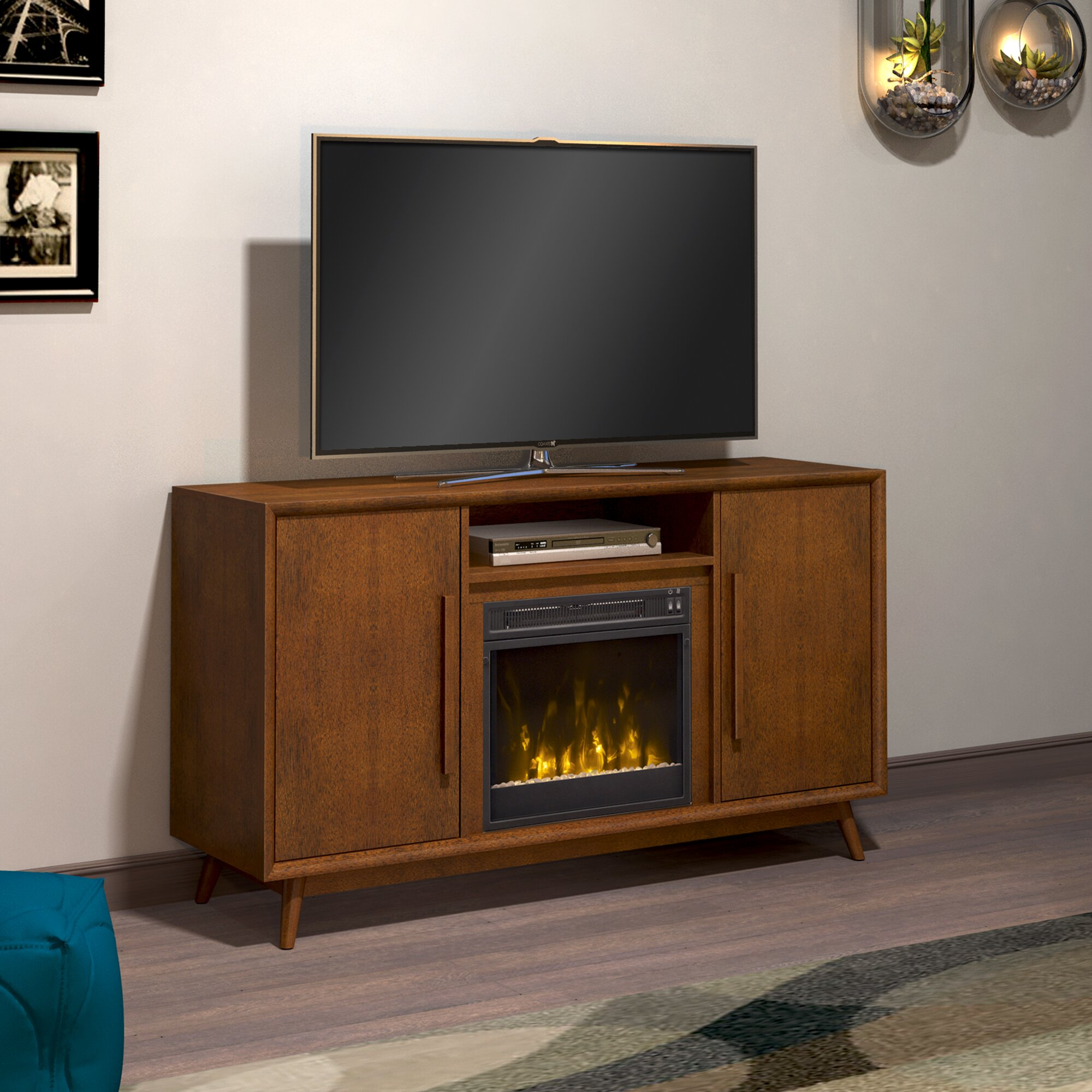 Langley Street Silvia 54 Quot Tv Stand With Electric Fireplace