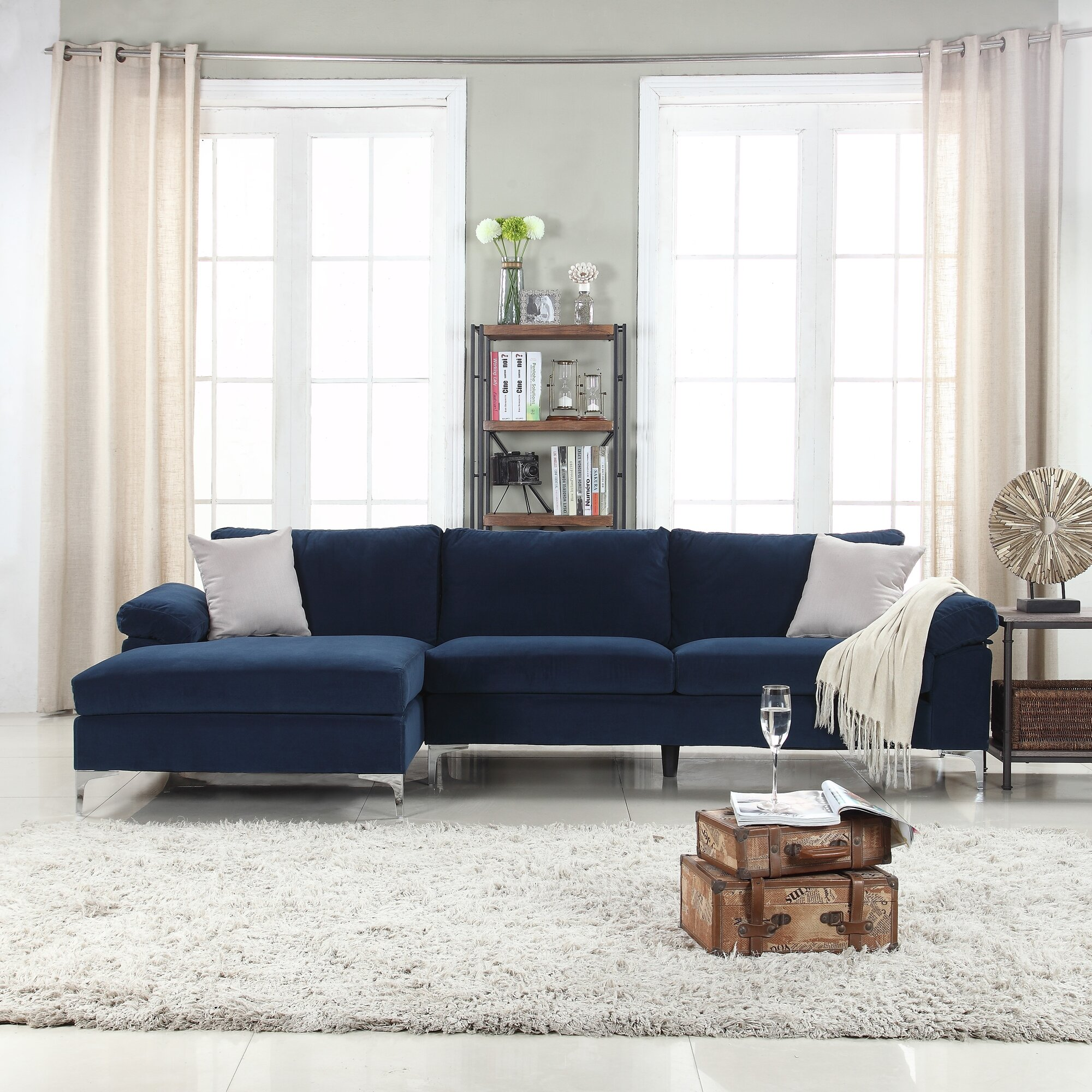 Picture Collection Sectional Sofas With Chaise Lounge All Can