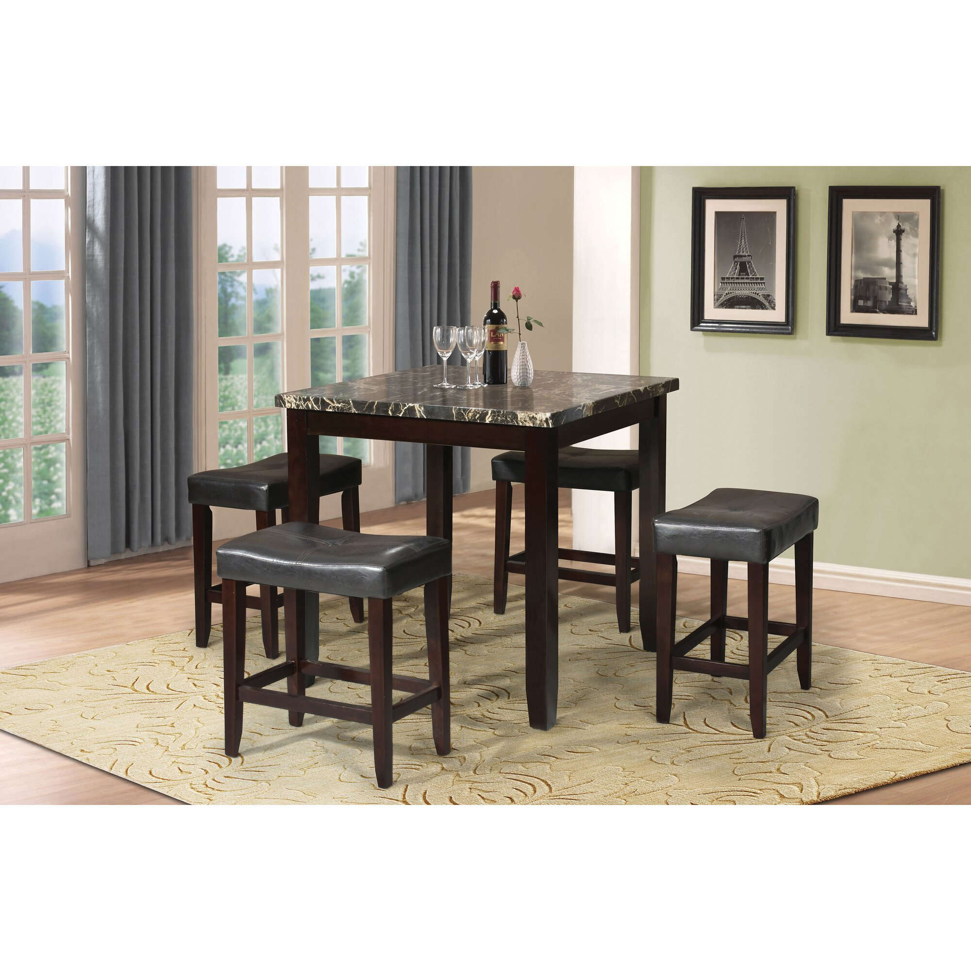 latitude run dehaven 5 piece counter height dining set