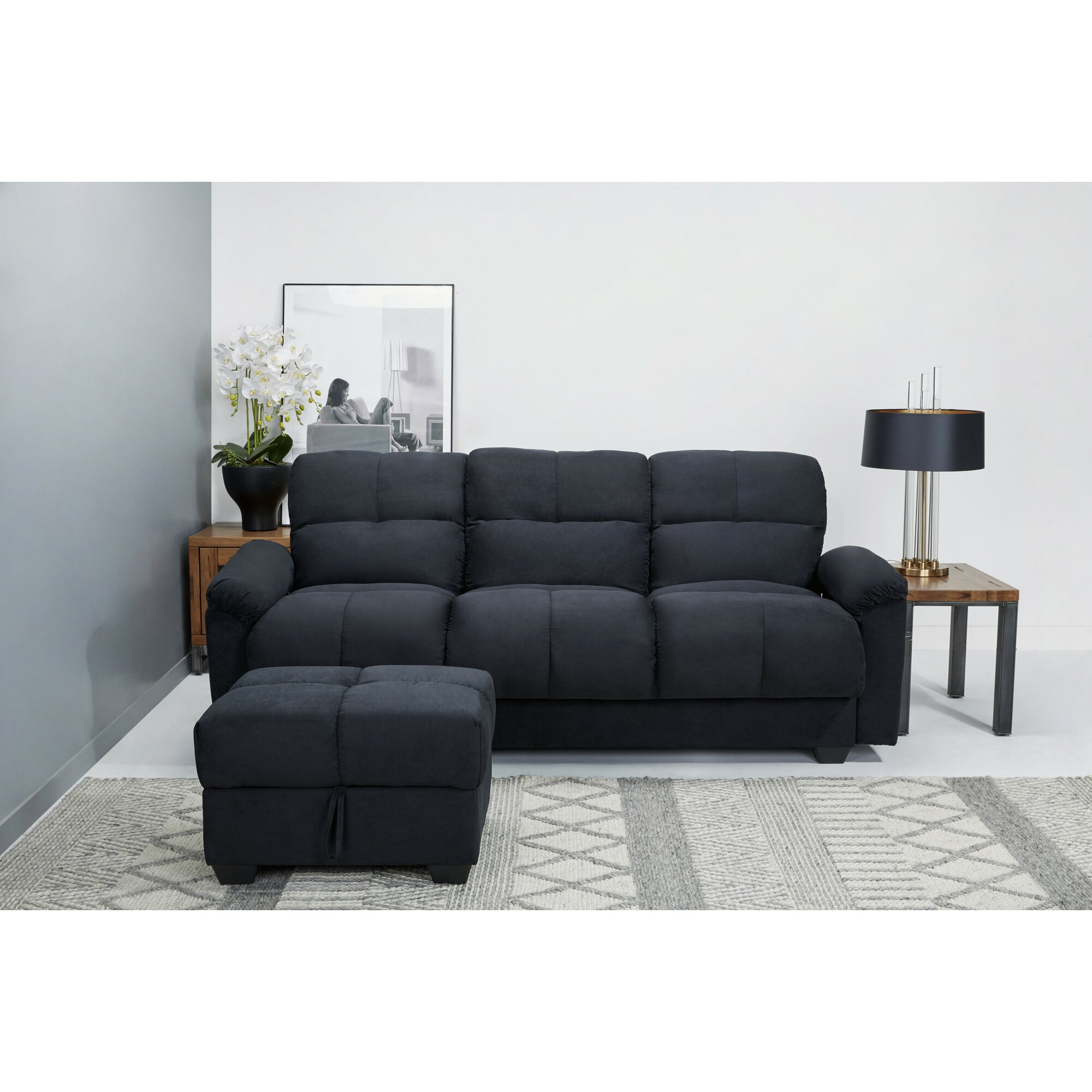 leader lifestyle 3 sitzer schlafsofa cate. Black Bedroom Furniture Sets. Home Design Ideas
