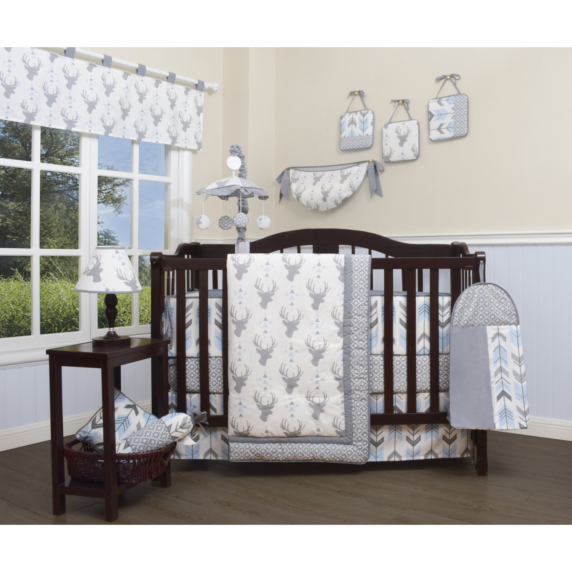 Harriet Bee Rollins 3 Piece Crib Bedding Set: Harriet Bee Jasmine Deer Nursery Arrow 13 Piece Crib