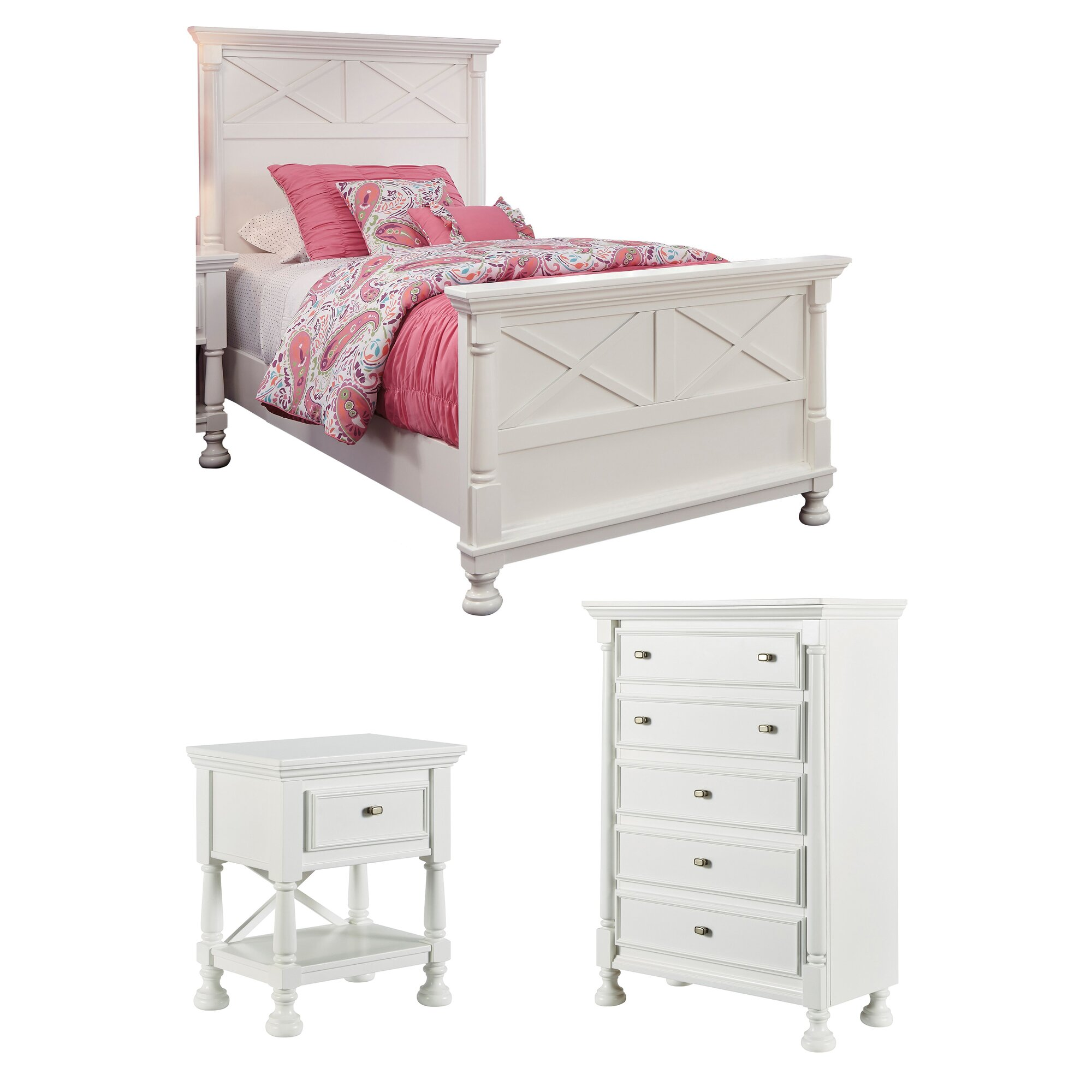 Darby Home Co Jeffersonville Panel Customizable Bedroom Set Reviews