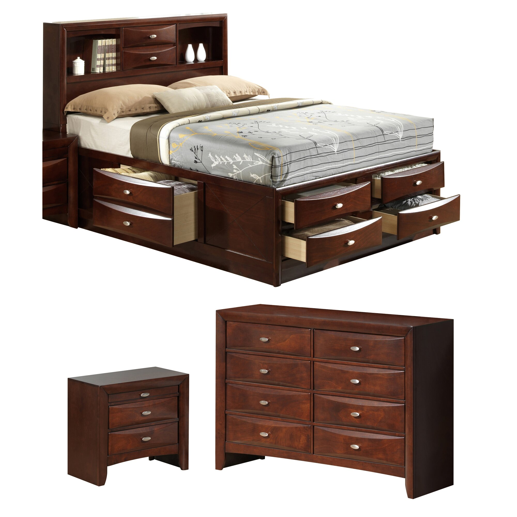 Global furniture usa linda platform customizable bedroom for Bedroom furniture usa