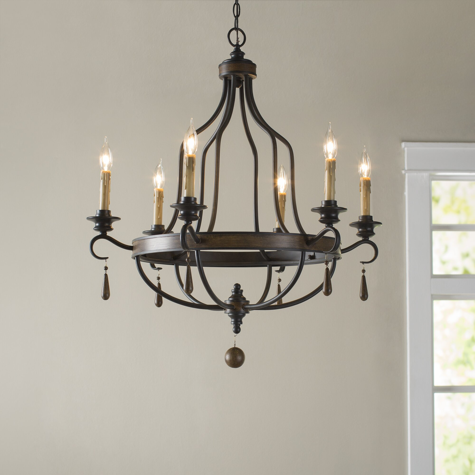 Birch lane coningsby 6 light candle style chandelier for C furniture coningsby