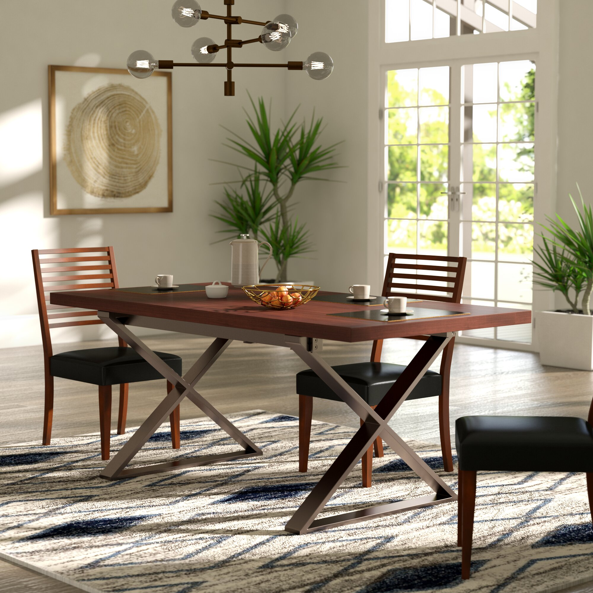 Brayden Studio Mathison Extendable Dining Table & Reviews | Wayfair