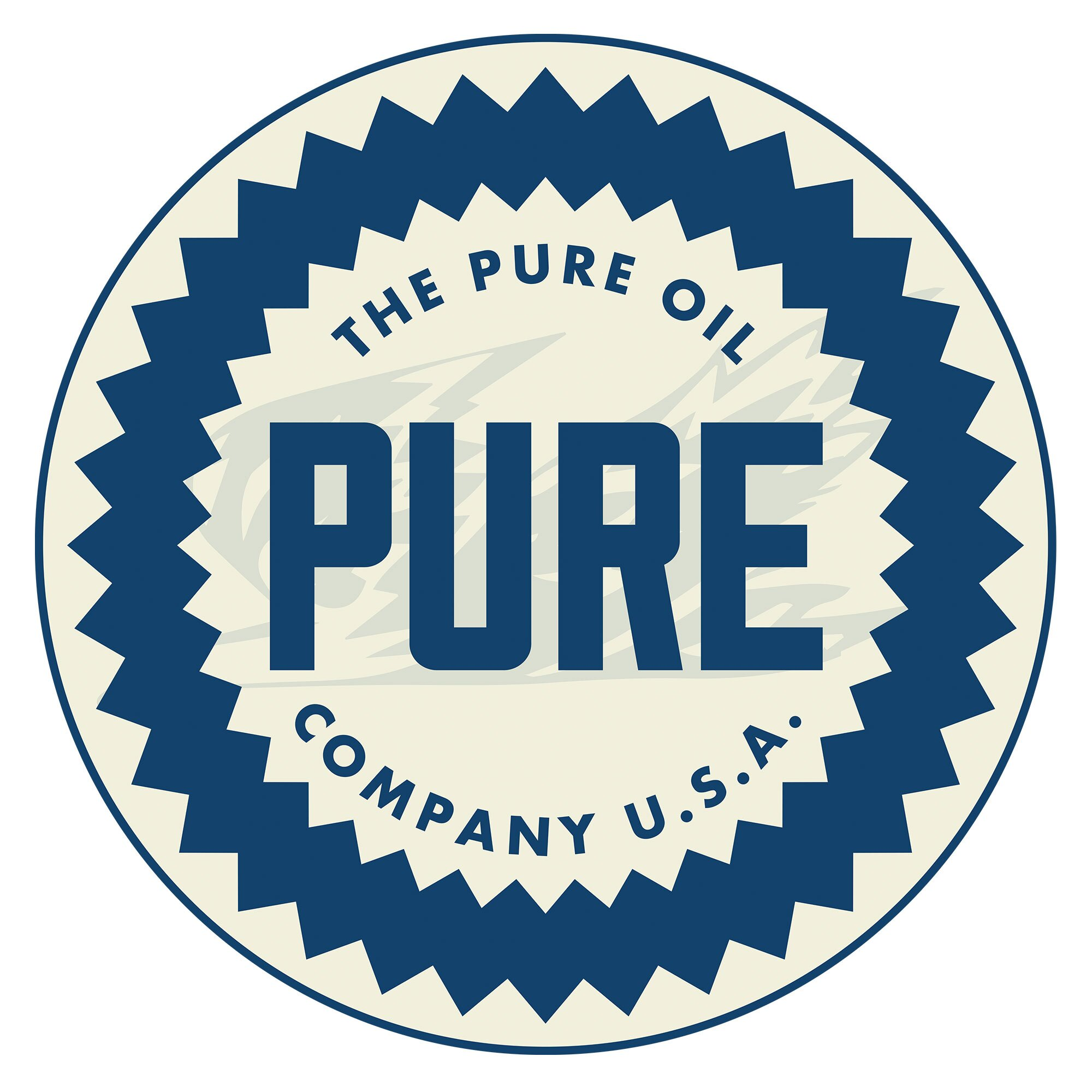 Trademark Global Pure Oil Wordmark Swivel Bar Stool With