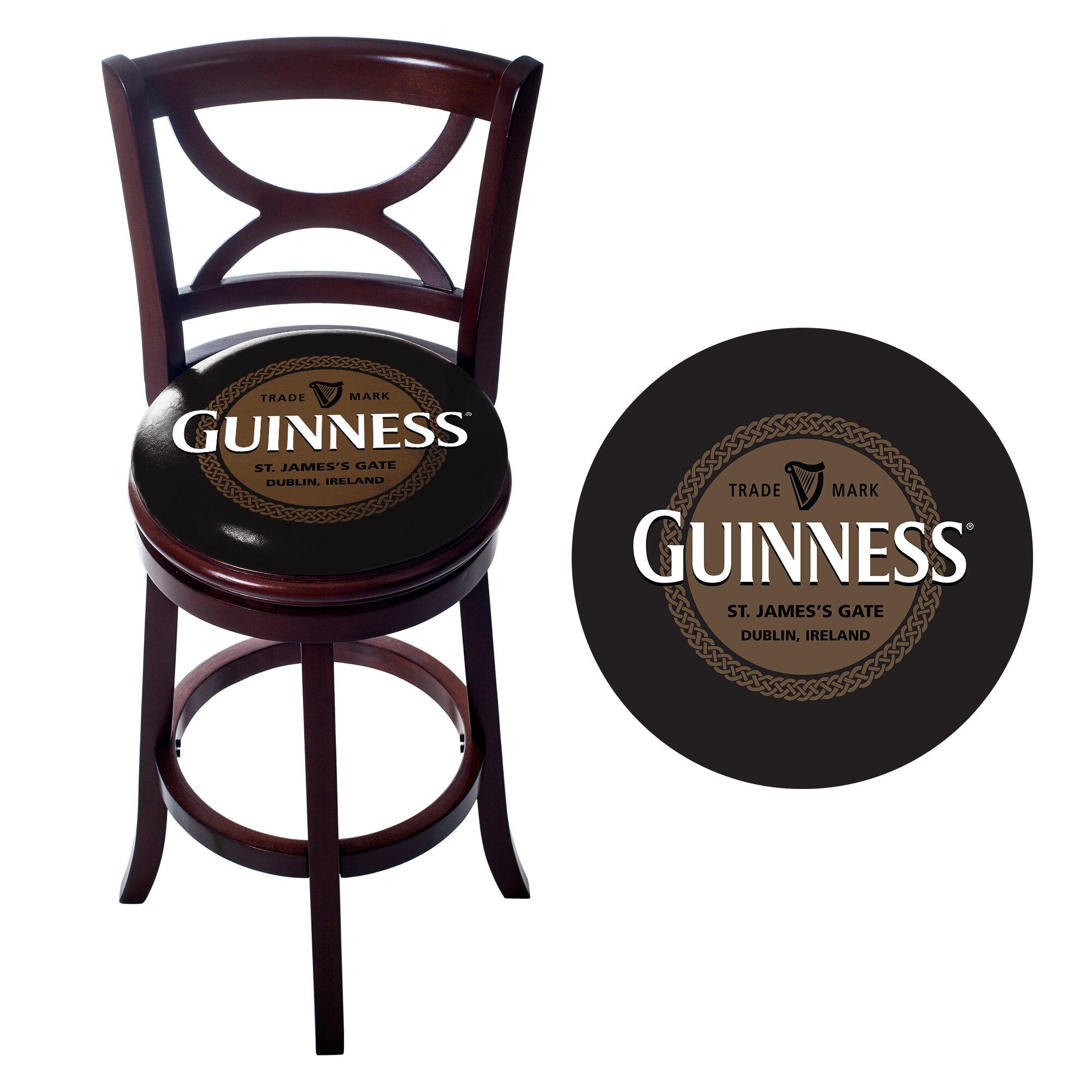 Trademark Global 29 Quot Swivel Bar Stool With Cushion