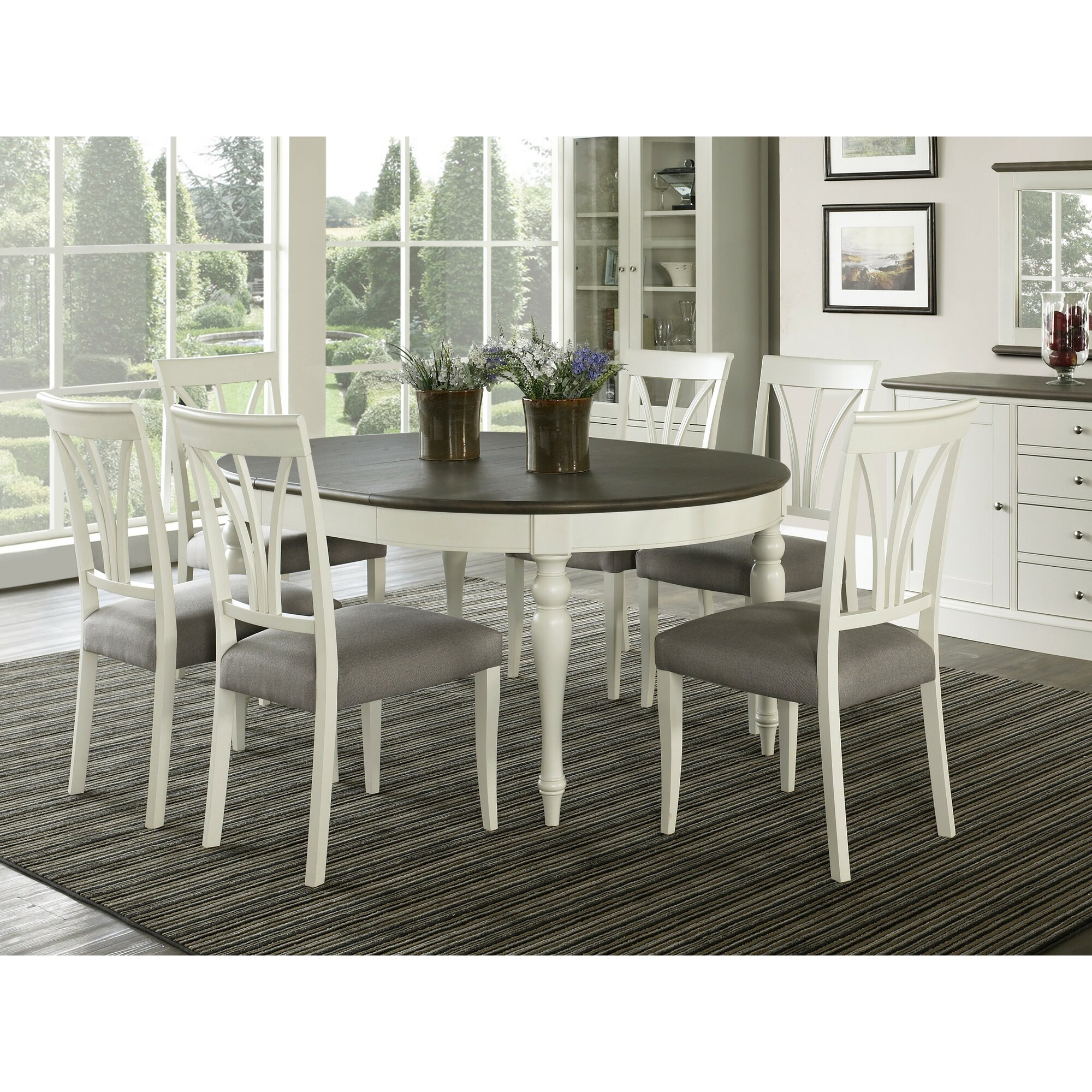 Rosecliff Heights Lattimore 5 Piece Wood Dining Set