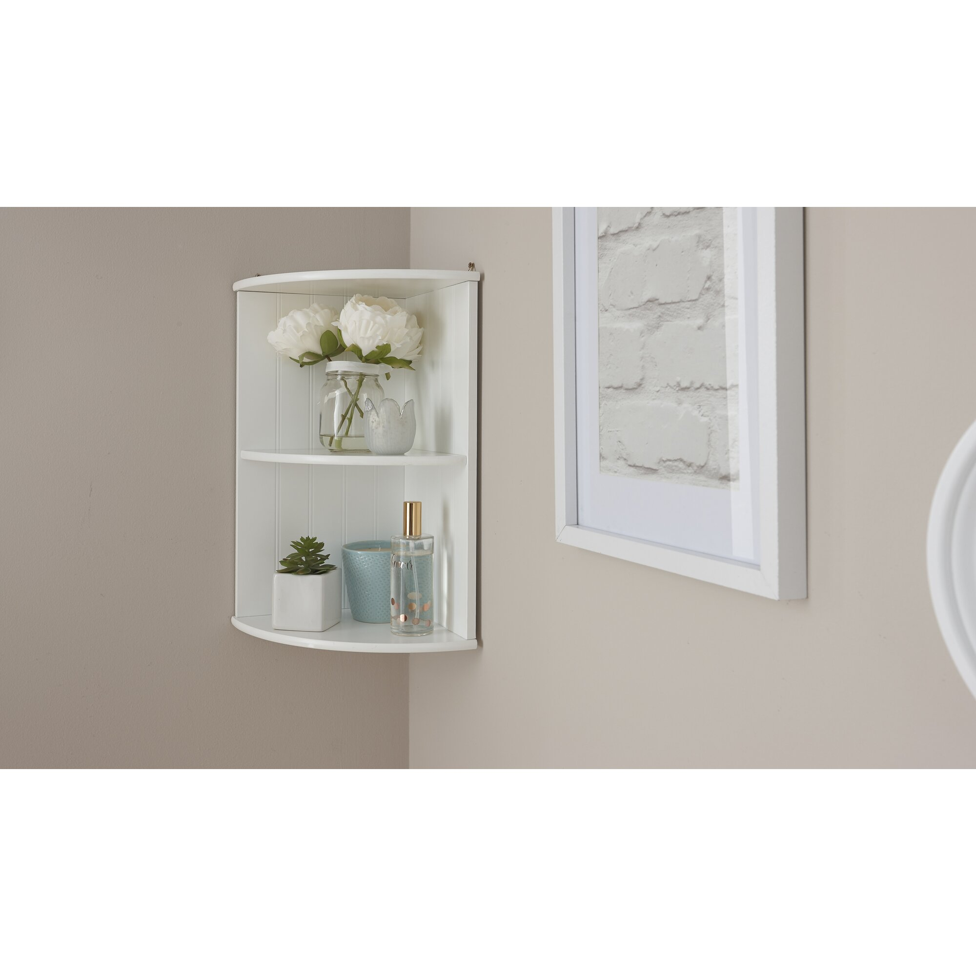 Fju00f8rde u0026 Co Turku 25 x 50cm Bathroom Shelf u0026 Reviews : Wayfair.co.uk