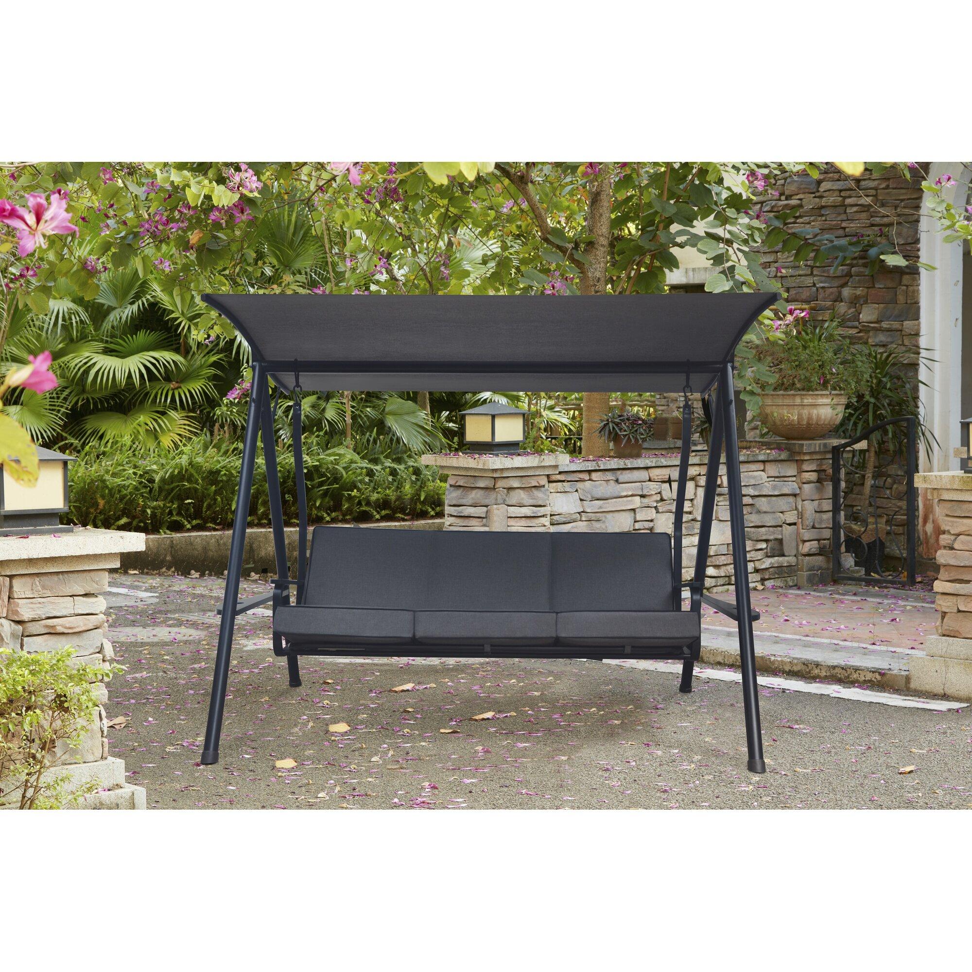 Red Barrel Studio Marine 3 Seat Cushion Porch Swing with
