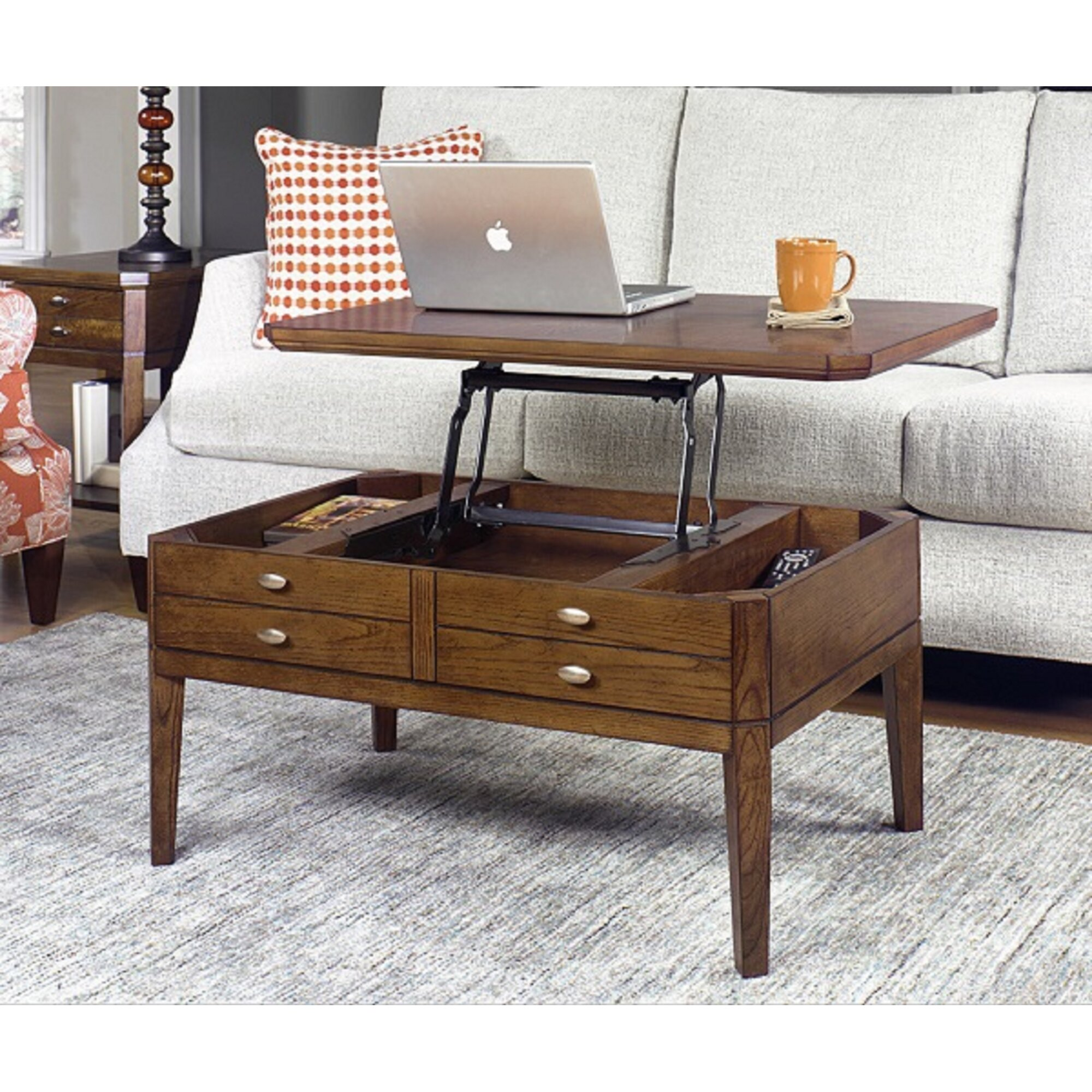Lift Top Coffee Table Hardware Canada: Alcott Hill Weybossett Coffee Table With Lift Top