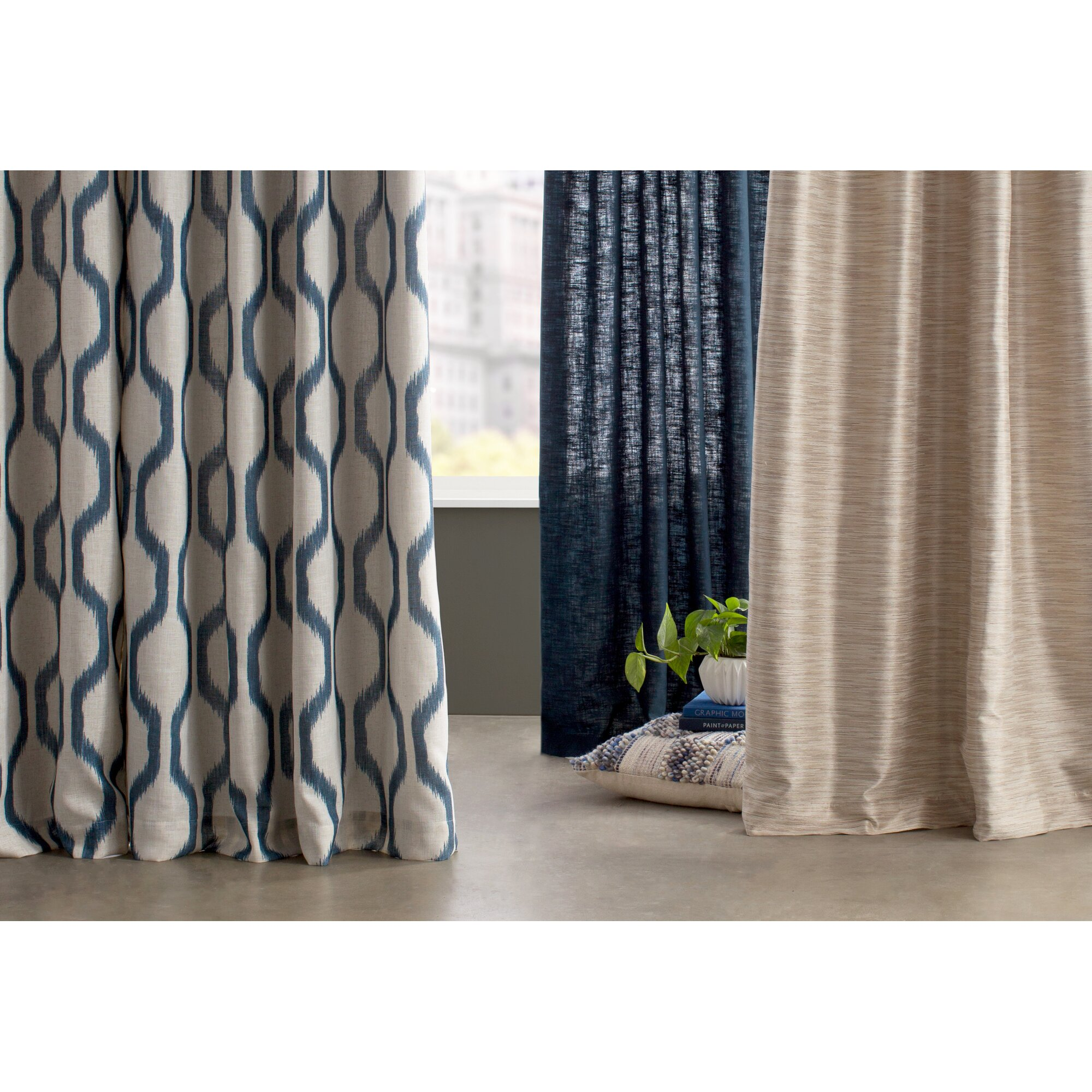 Elrene Home Fashions Renzo Geometric Blackout Grommet