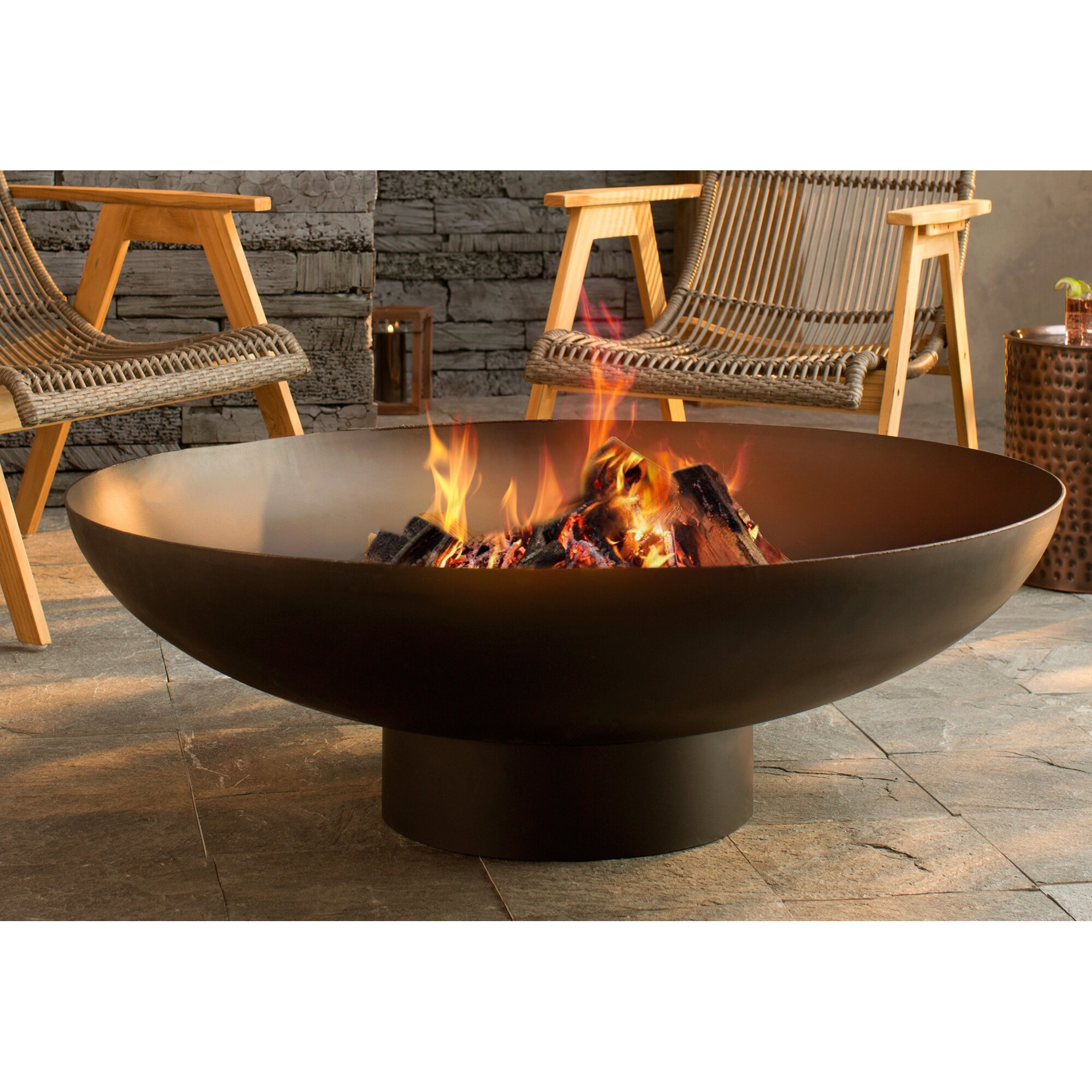 Nuria Steel Wood Burning Fire Pit Amp Reviews Allmodern