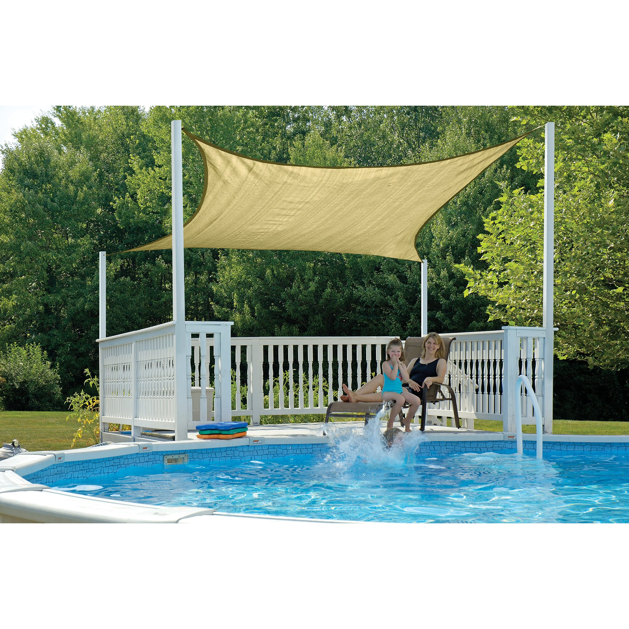 Shelterlogic shade sail reviews wayfair for Shade sail cost