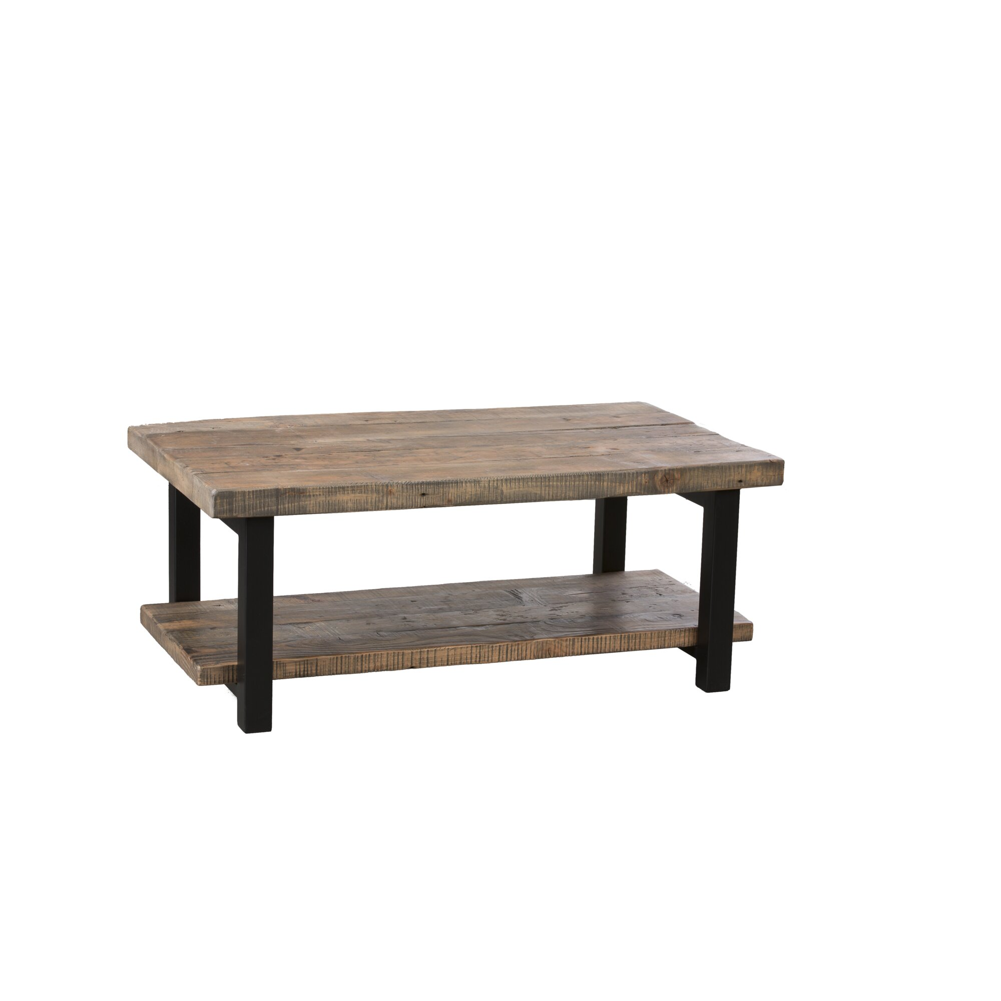 """Aluminum And Wood Coffee Table: Somers 42"""" Wood/Metal Coffee Table & Reviews"""