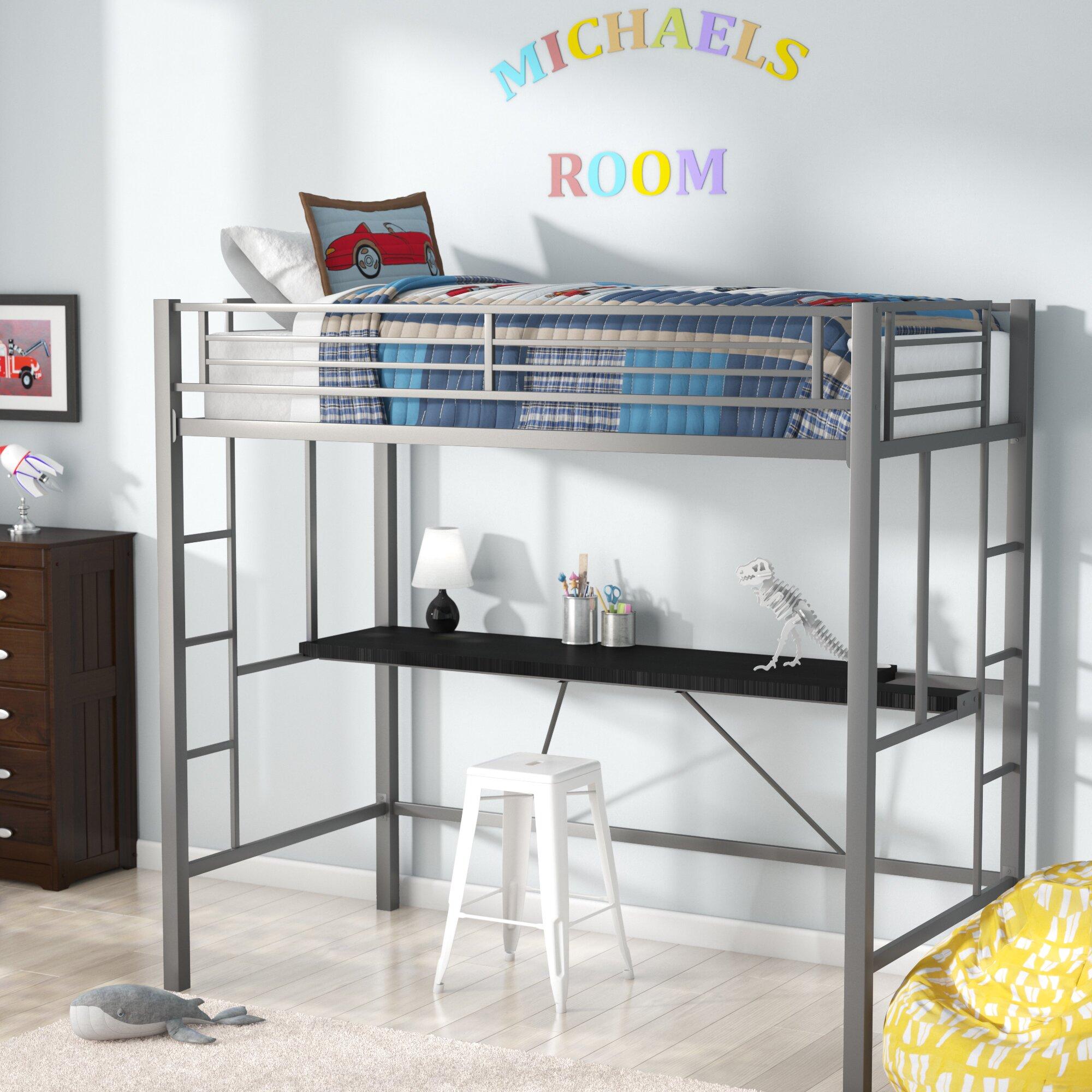 viv rae myrtle twin loft bed with desk reviews. Black Bedroom Furniture Sets. Home Design Ideas