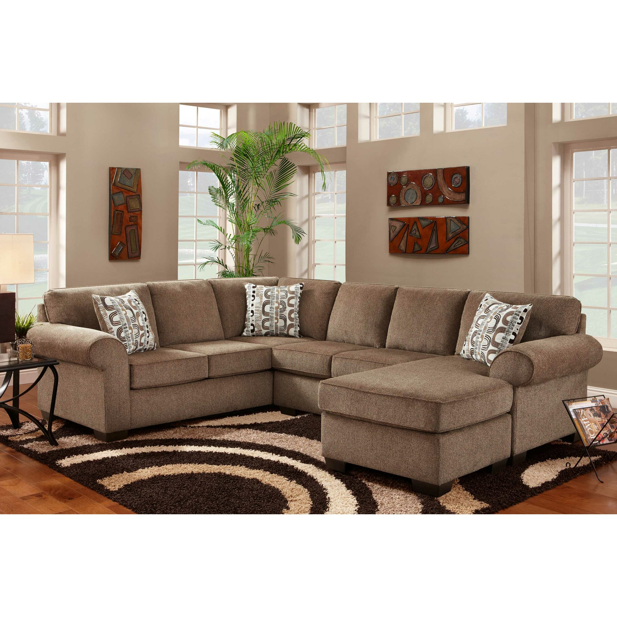 Chelsea Home Furniture Roosevelt Reversible Chaise Sectional WCF3283