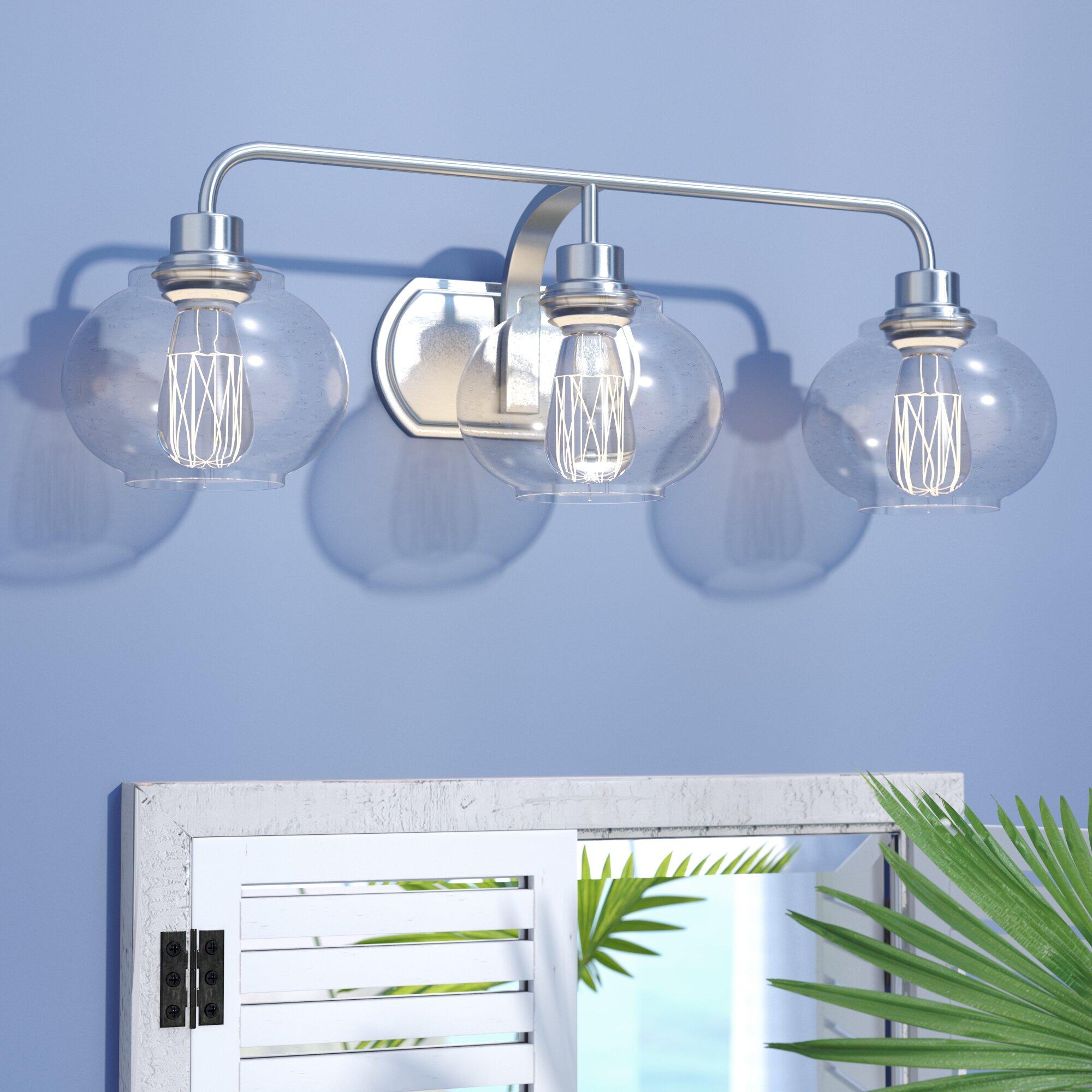 Beachcrest Home Gotha 3 Light Vanity Light Reviews: Breakwater Bay Branchview 3-Light Vanity Light & Reviews