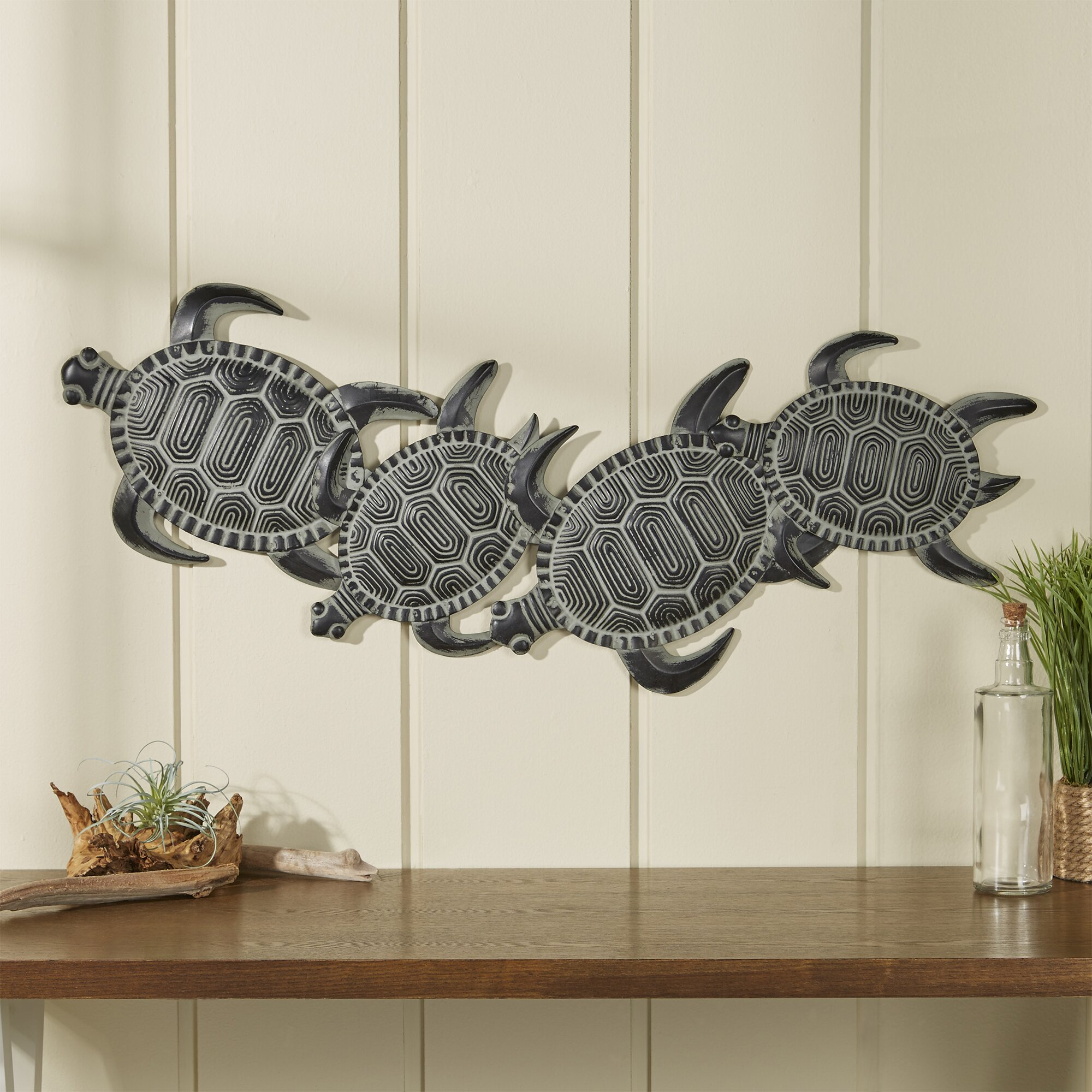 Beachcrest home rhys turtle decor wall d cor reviews for Home decor 2000