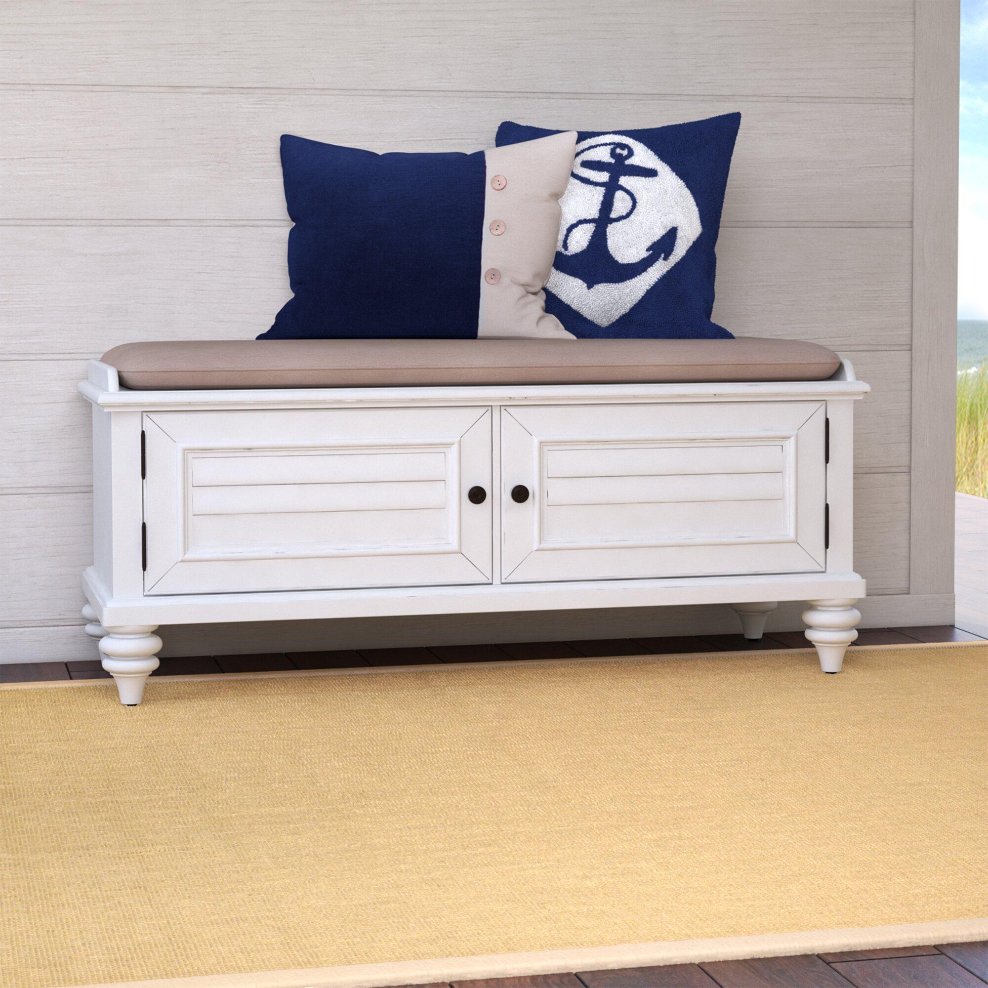 Varian Upholstered Storage Bedroom Bench Birchlane: Kenduskeag Upholstered Storage Entryway Bench & Reviews