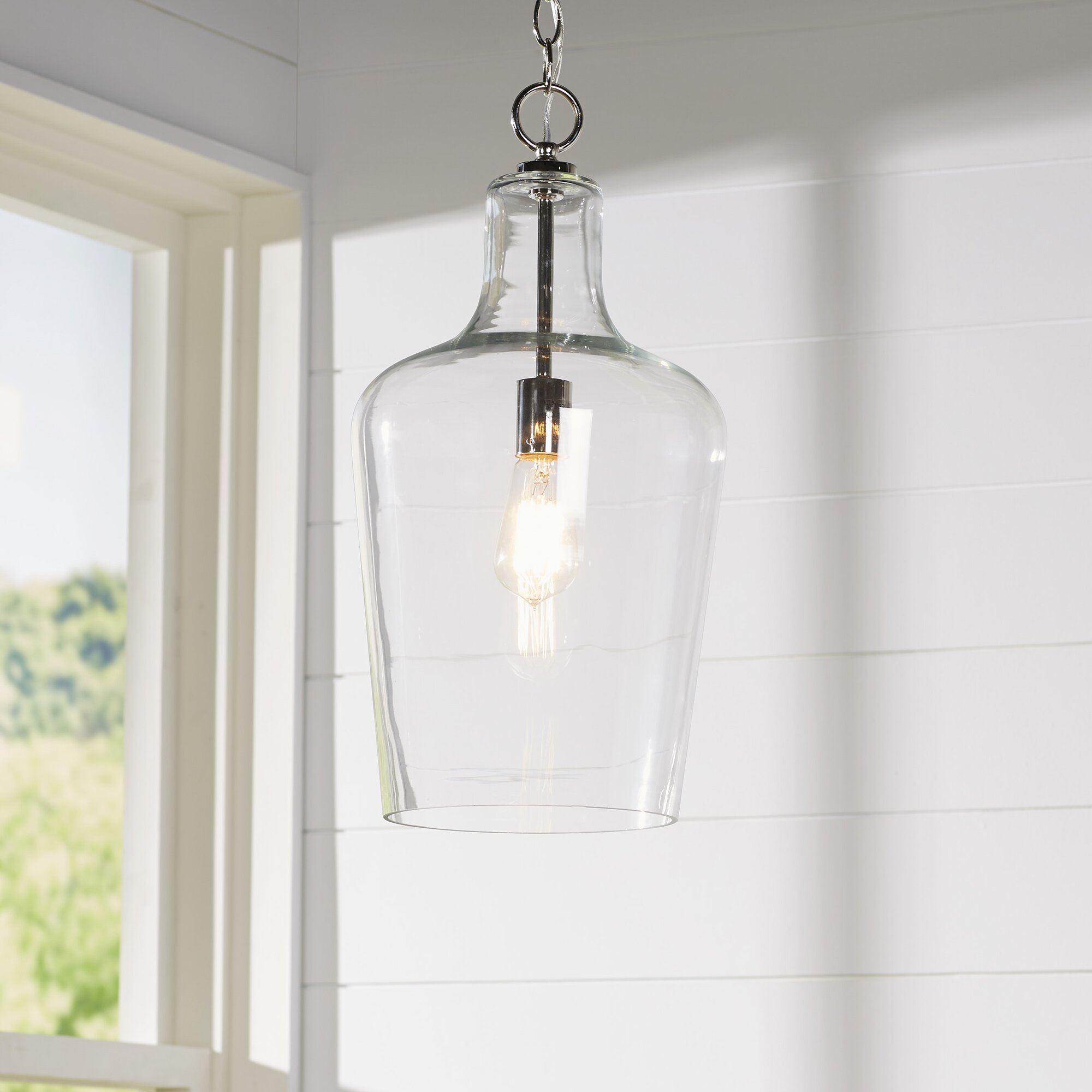 Hanging Lights For Bedroom Laurel Foundry Modern Farmhouse Carey 1 Light Foyer