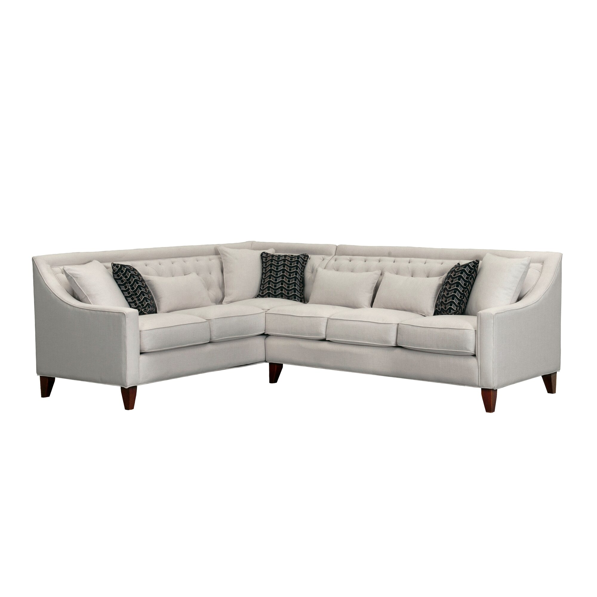 Tufted Sectional View Full Size With Tufted Sectional Best