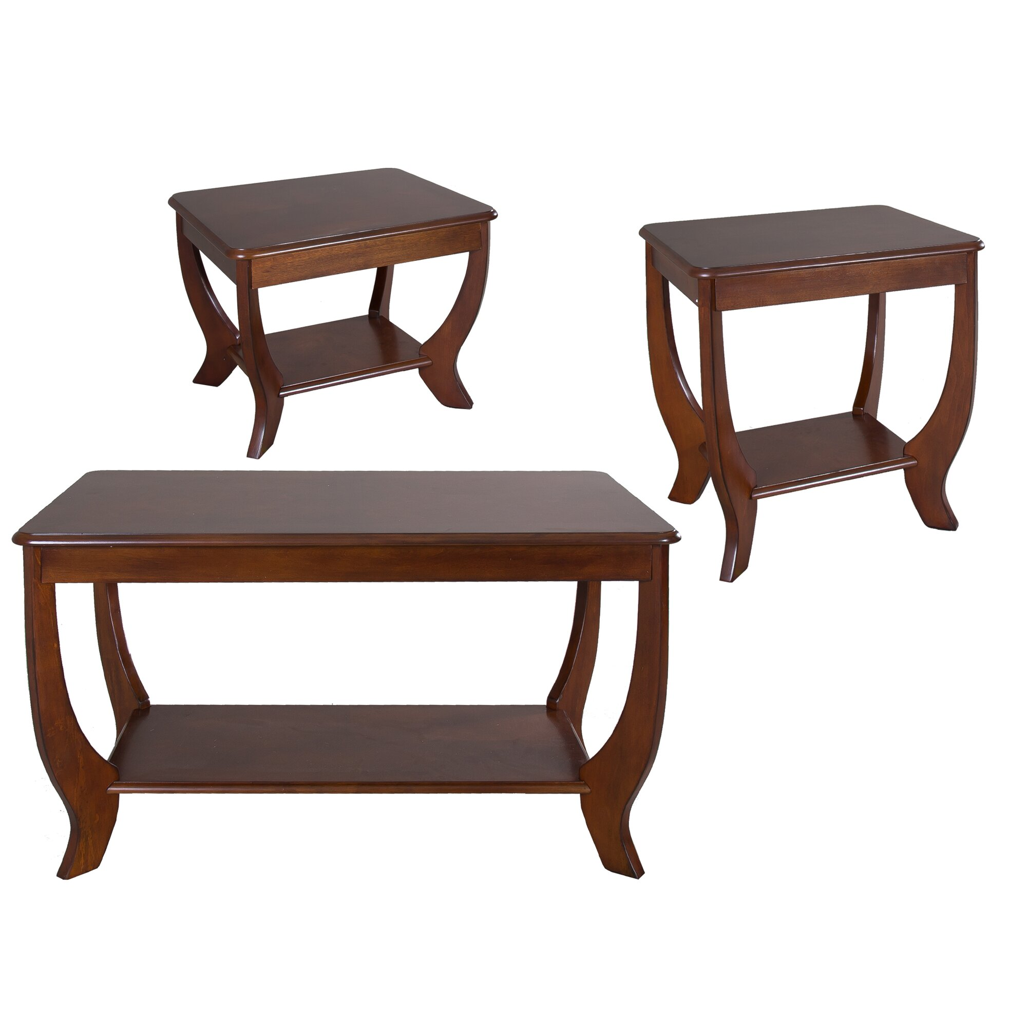 Veropeso 3 Piece Coffee Table Set: Rosalind Wheeler Pettigrew 3 Piece Coffee Table Set