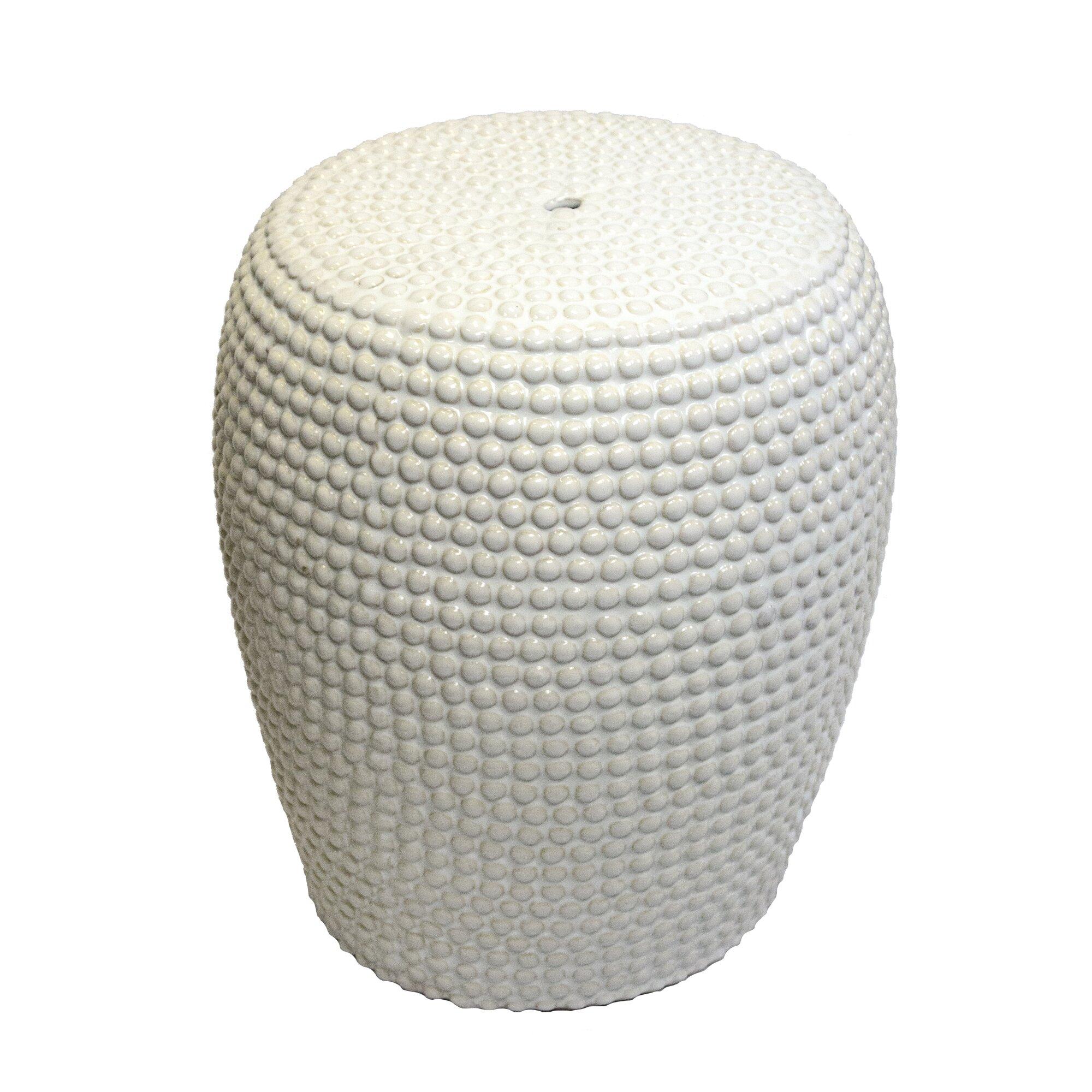 Bungalow Rose Dollison Bead Texture Ceramic Garden Stool