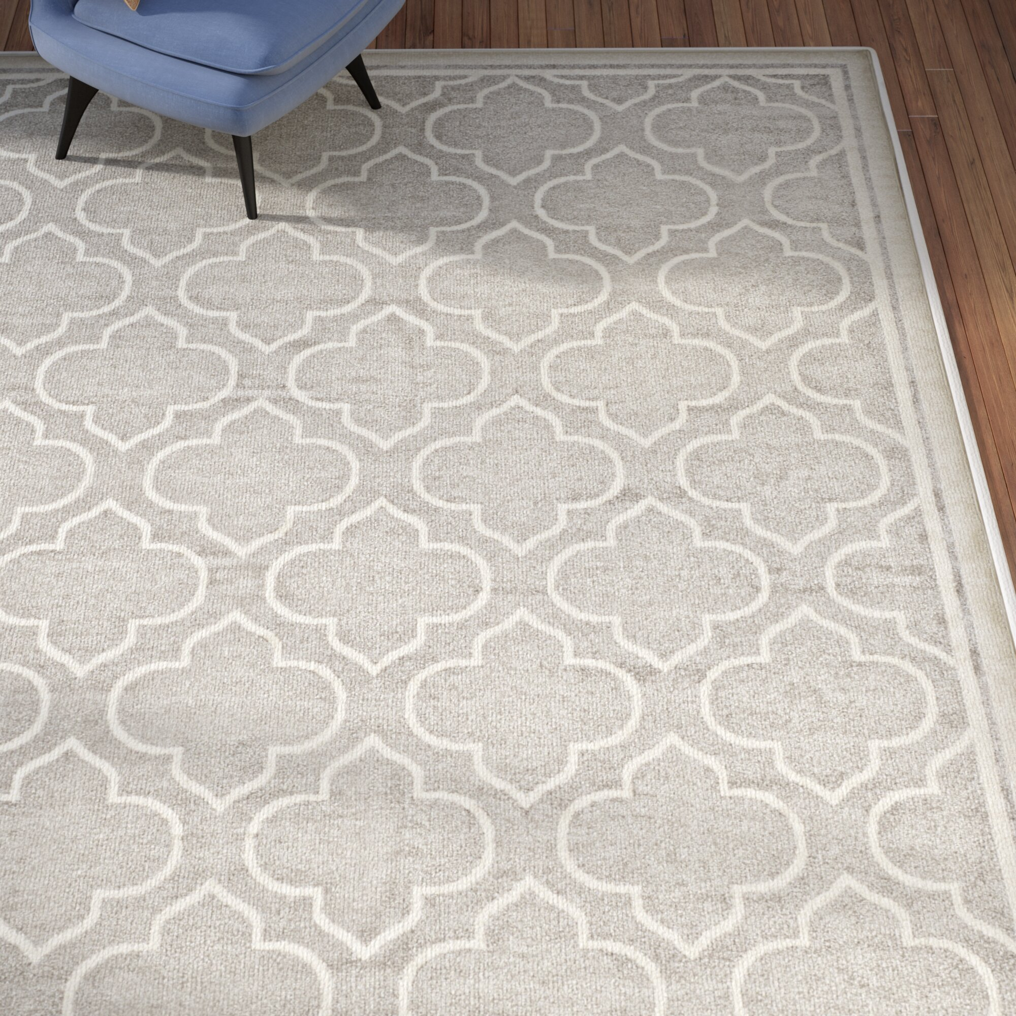 Currey Light Gray Ivory Outdoor Area Rug & Reviews