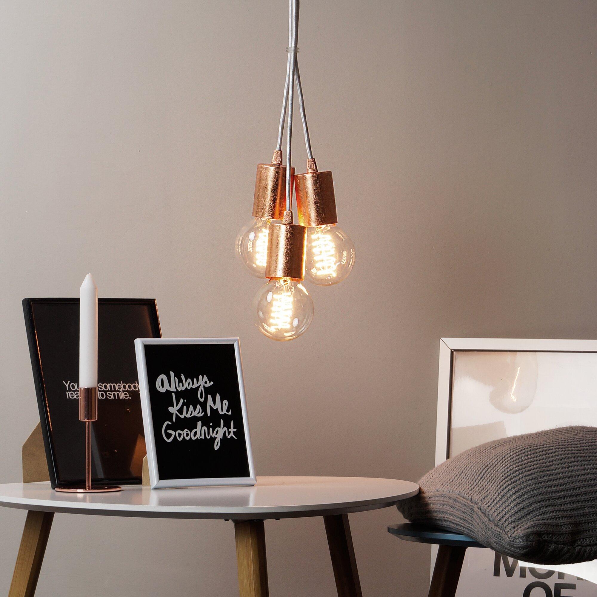 modernmoments design pendelleuchte 3 flammig cero. Black Bedroom Furniture Sets. Home Design Ideas