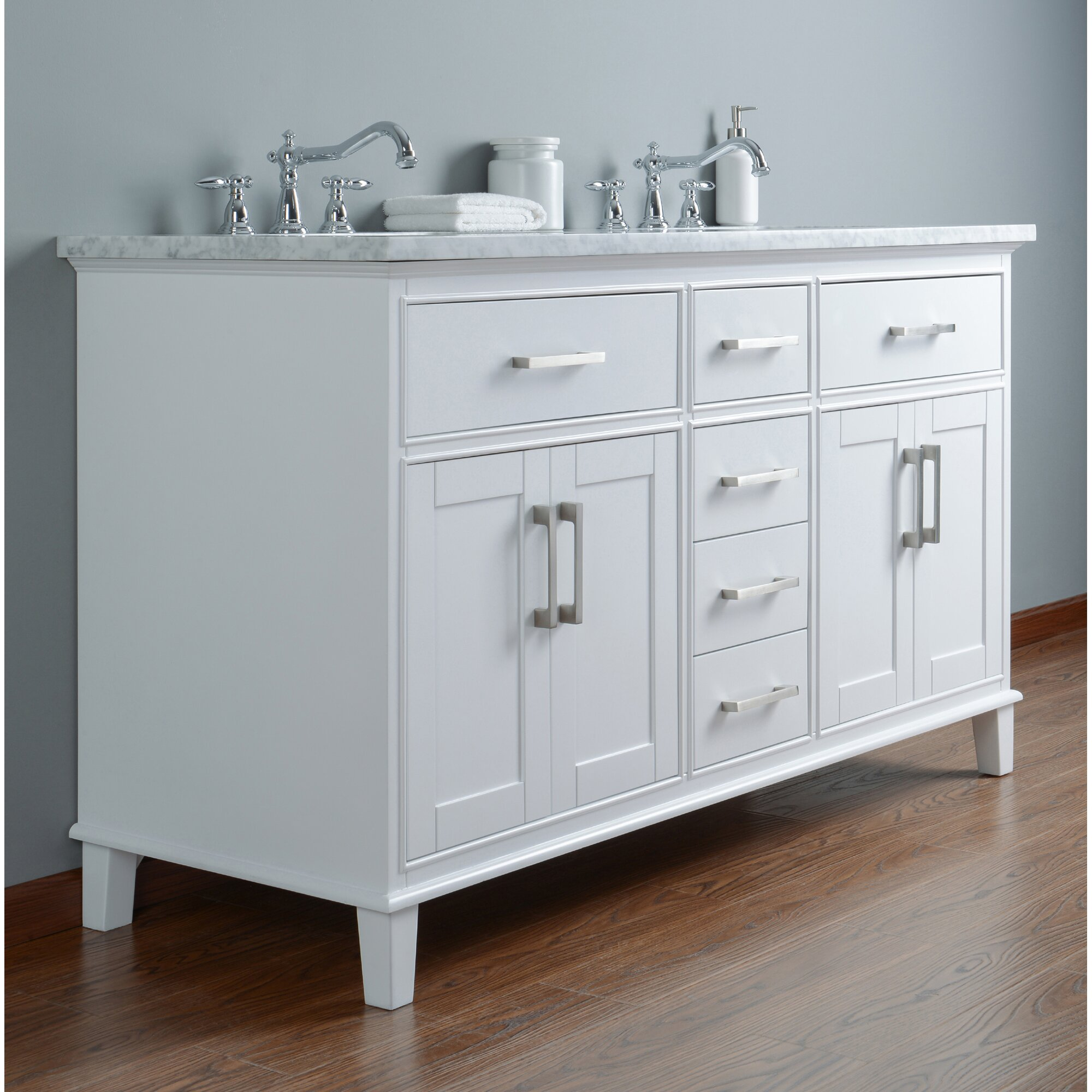 Rosecliff Heights Curtner 60 Double Bathroom Vanity Set