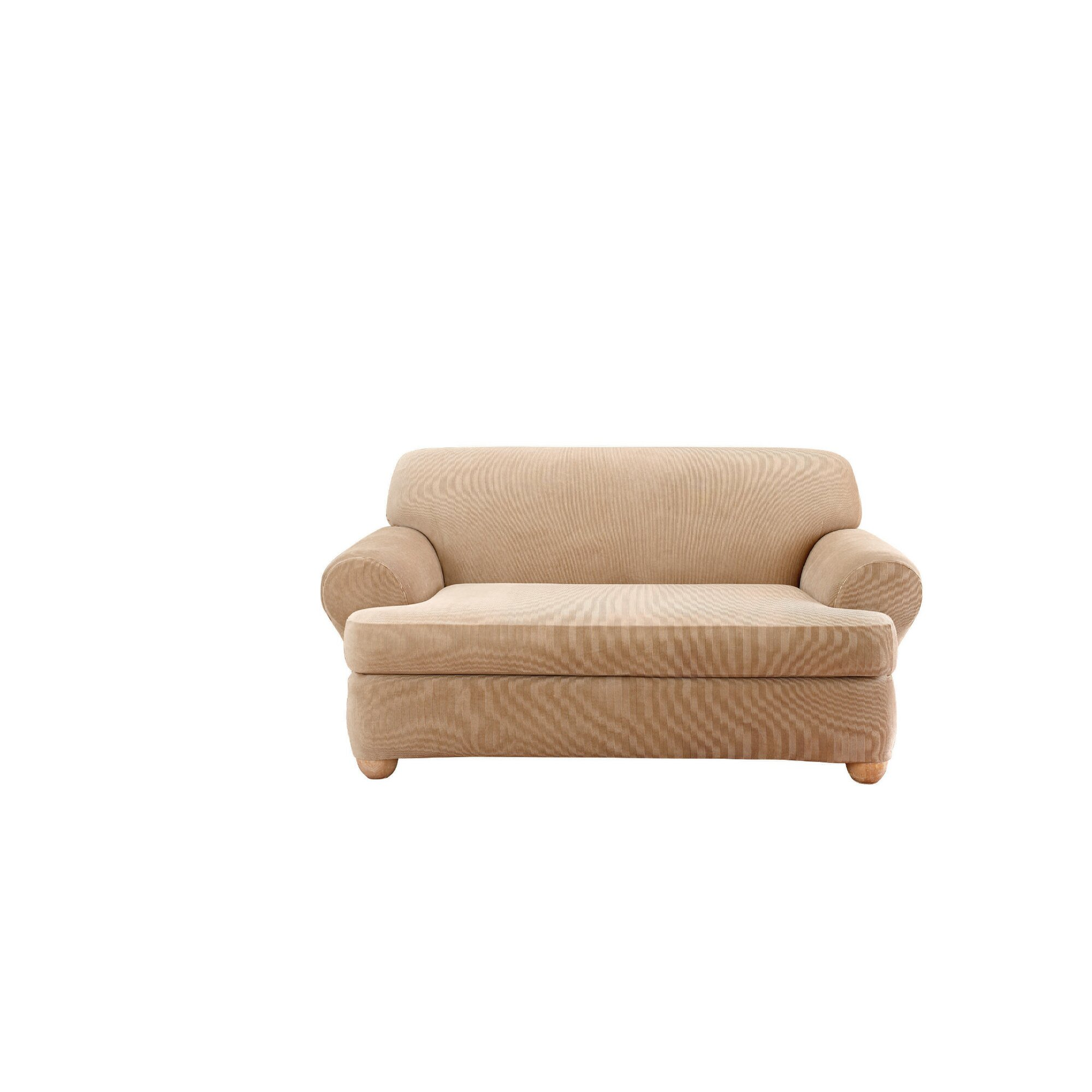 Sure Fit Stretch Stripe Loveseat T Cushion Slipcover Reviews Wayfair
