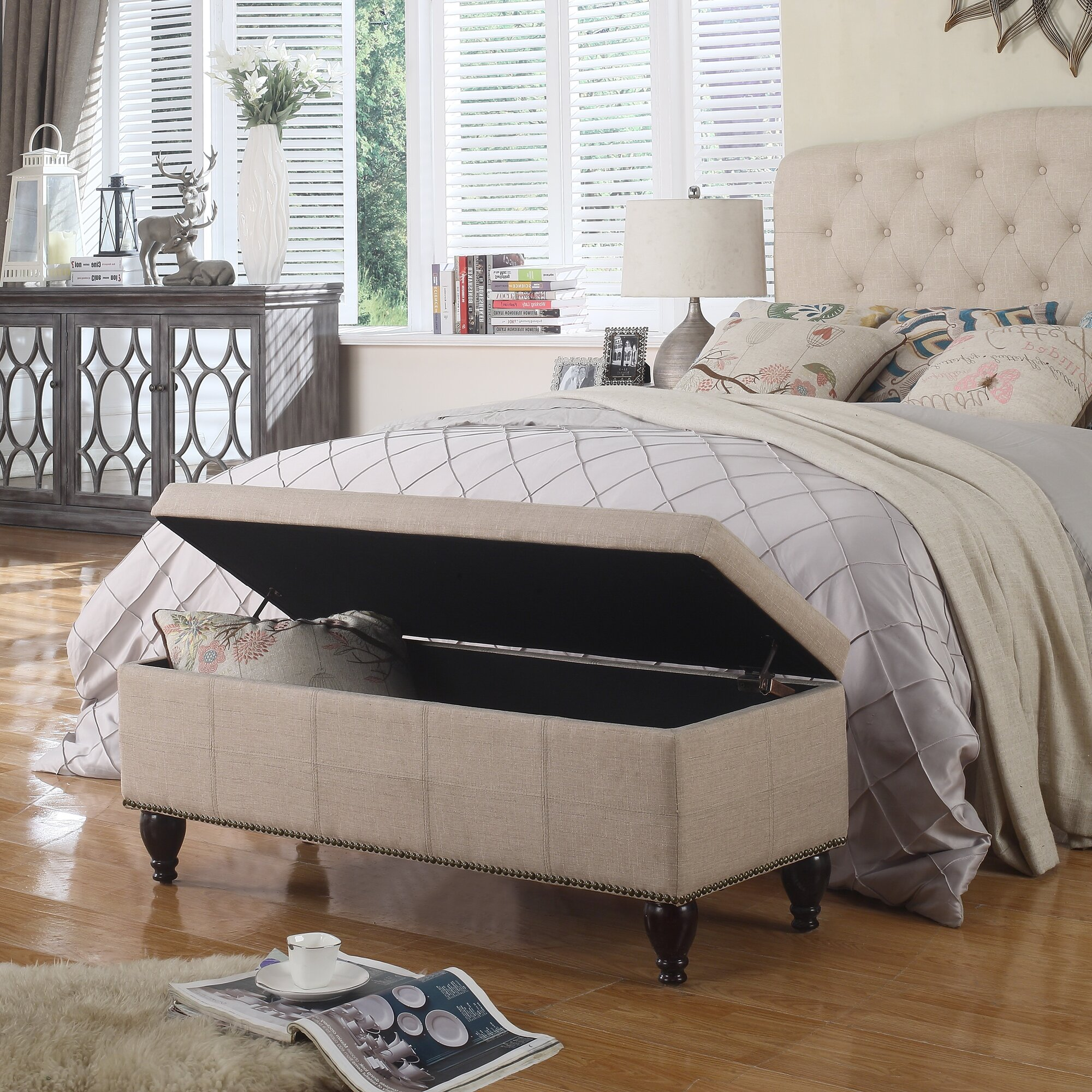 Darrah Upholstered Storage Bedroom Bench Reviews Joss Main