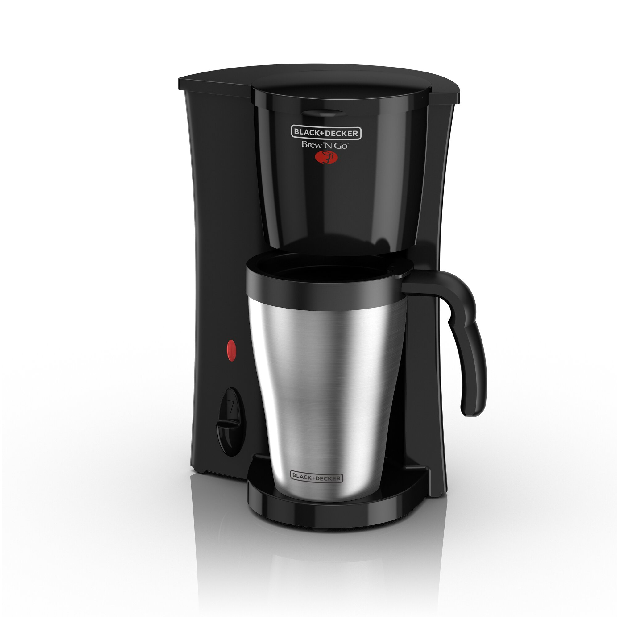 Single Cup Coffee Maker No Plastic : Black & Decker Brew 'N Go Deluxe Coffee Maker with Plastic Mug & Reviews Wayfair