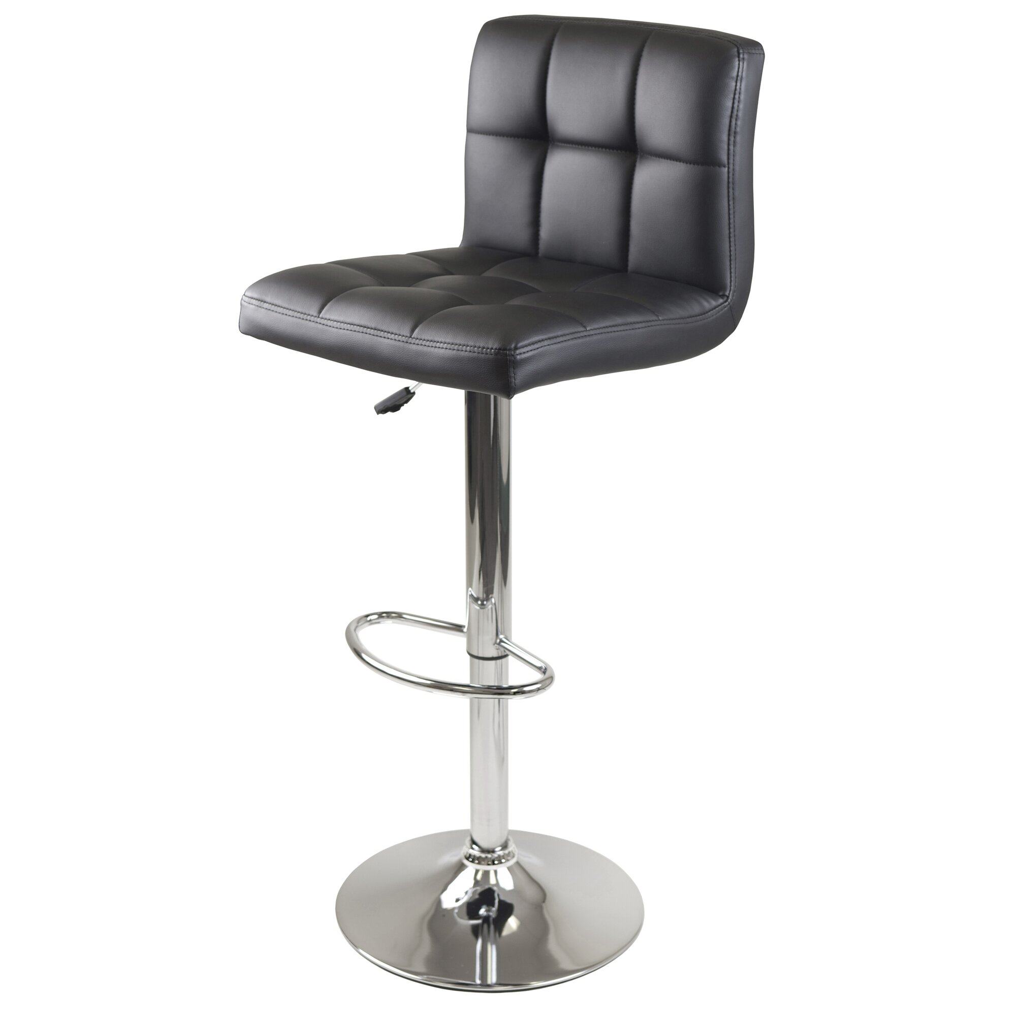 Winsome Stockholm Adjustable Height Swivel Bar Stool