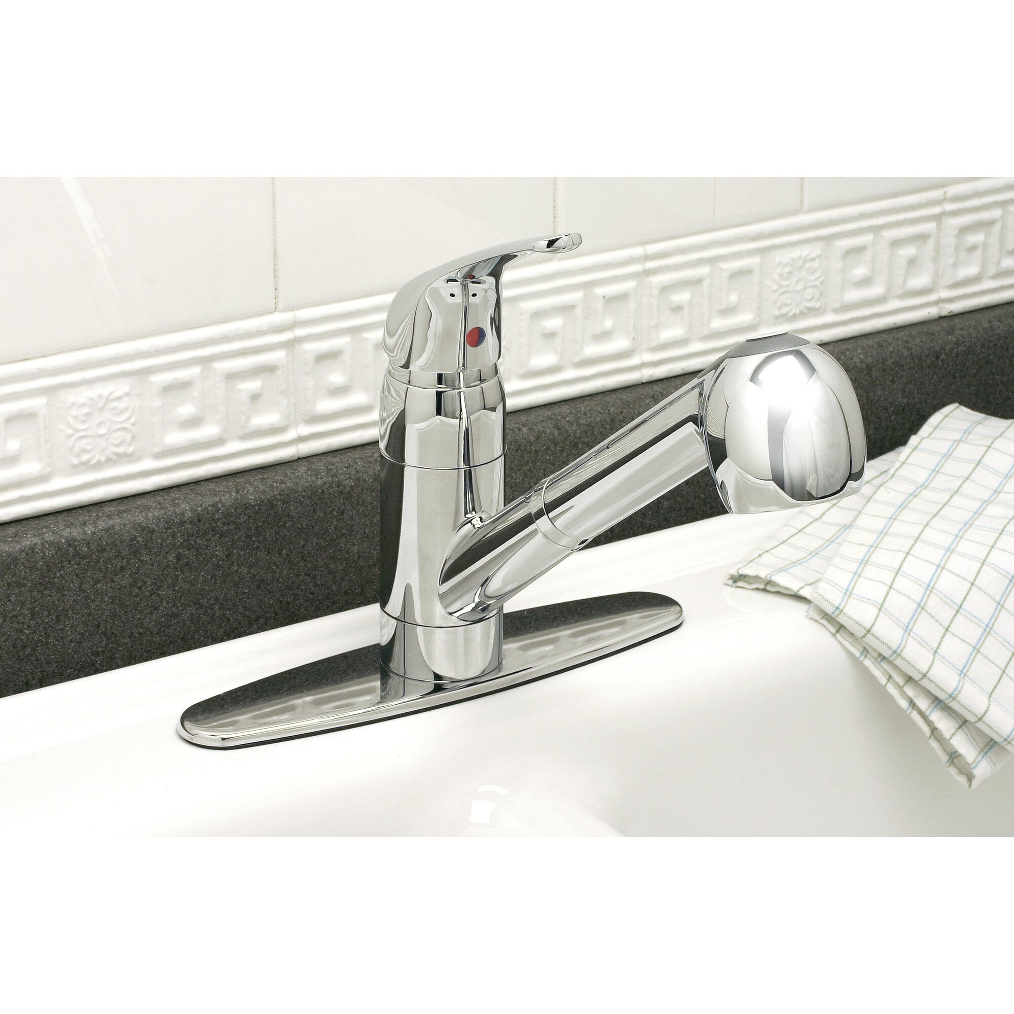 premier faucet bayview one handle centerset pull out