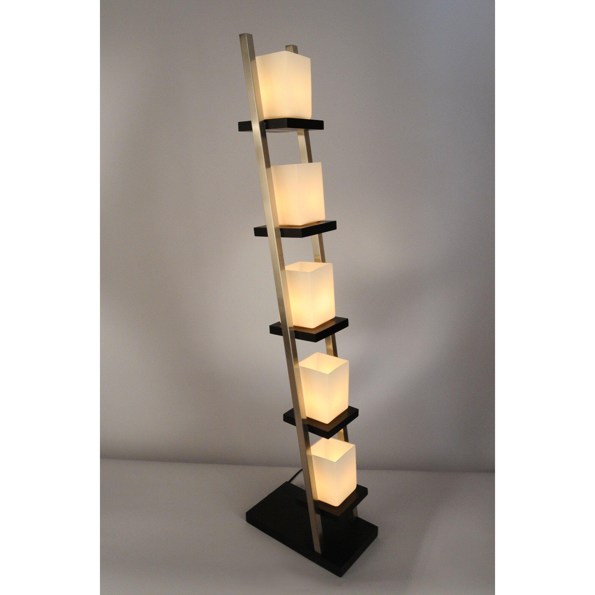 nova of california escalier 61 column floor lamp reviews wayfair. Black Bedroom Furniture Sets. Home Design Ideas