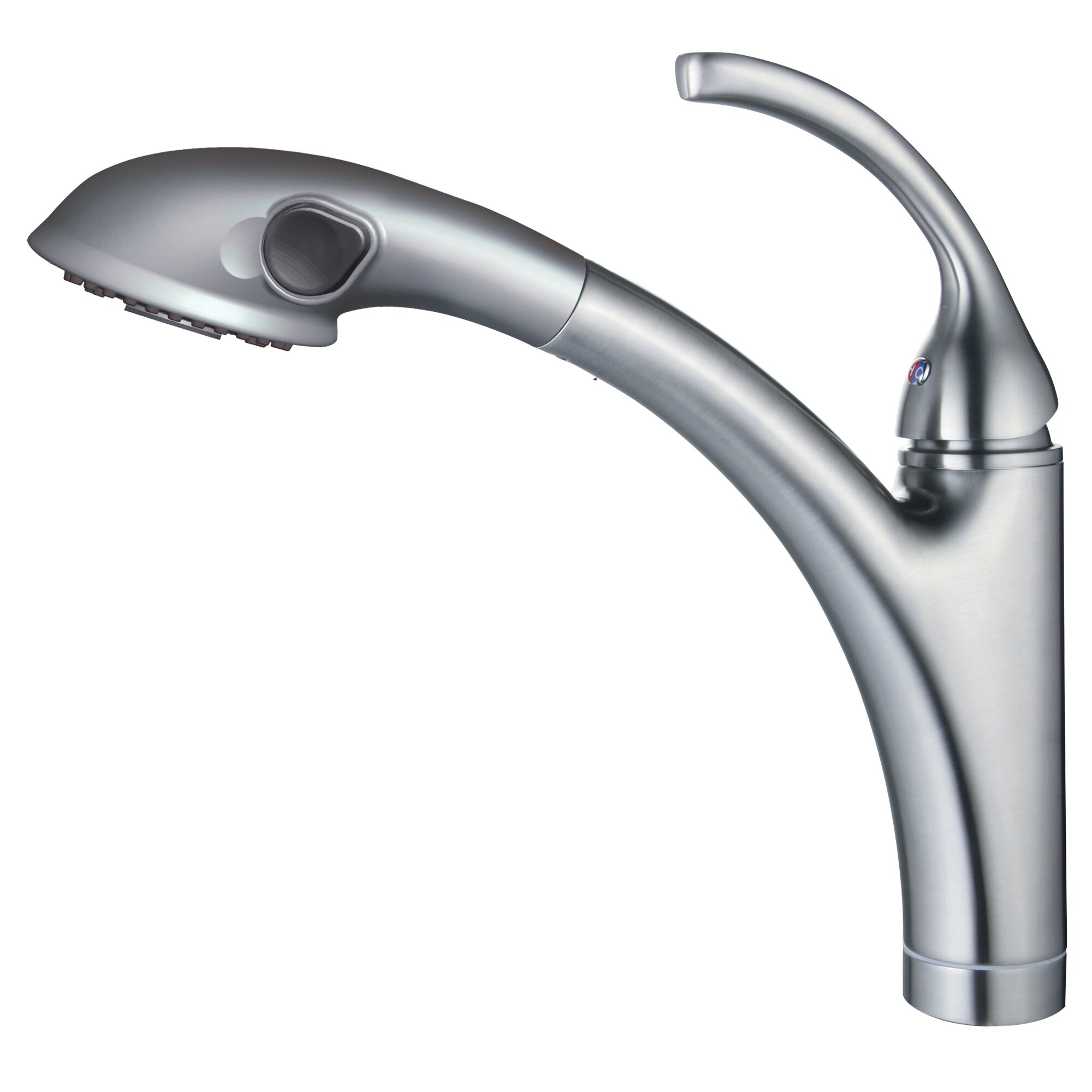 Yosemite Home Decor Single Handle Single Hole Kitchen Faucet With Pull Out Spout Sprayer