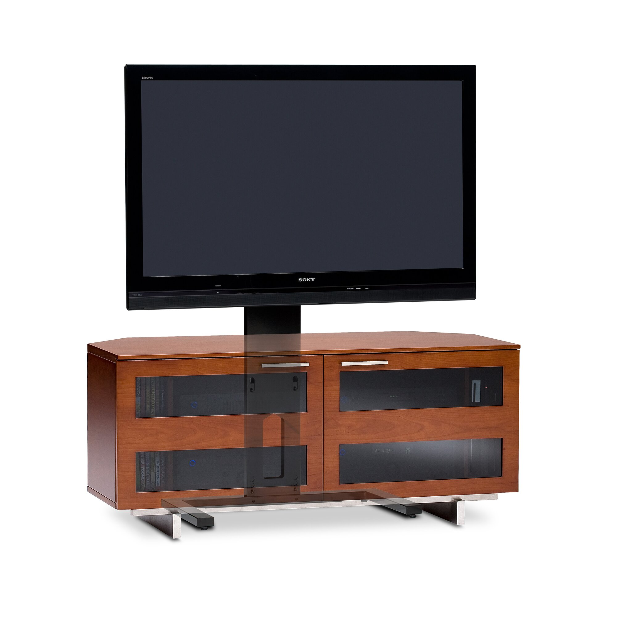 free standing tv stand -  tv stand · arena flat panel freestanding   floor stand mount