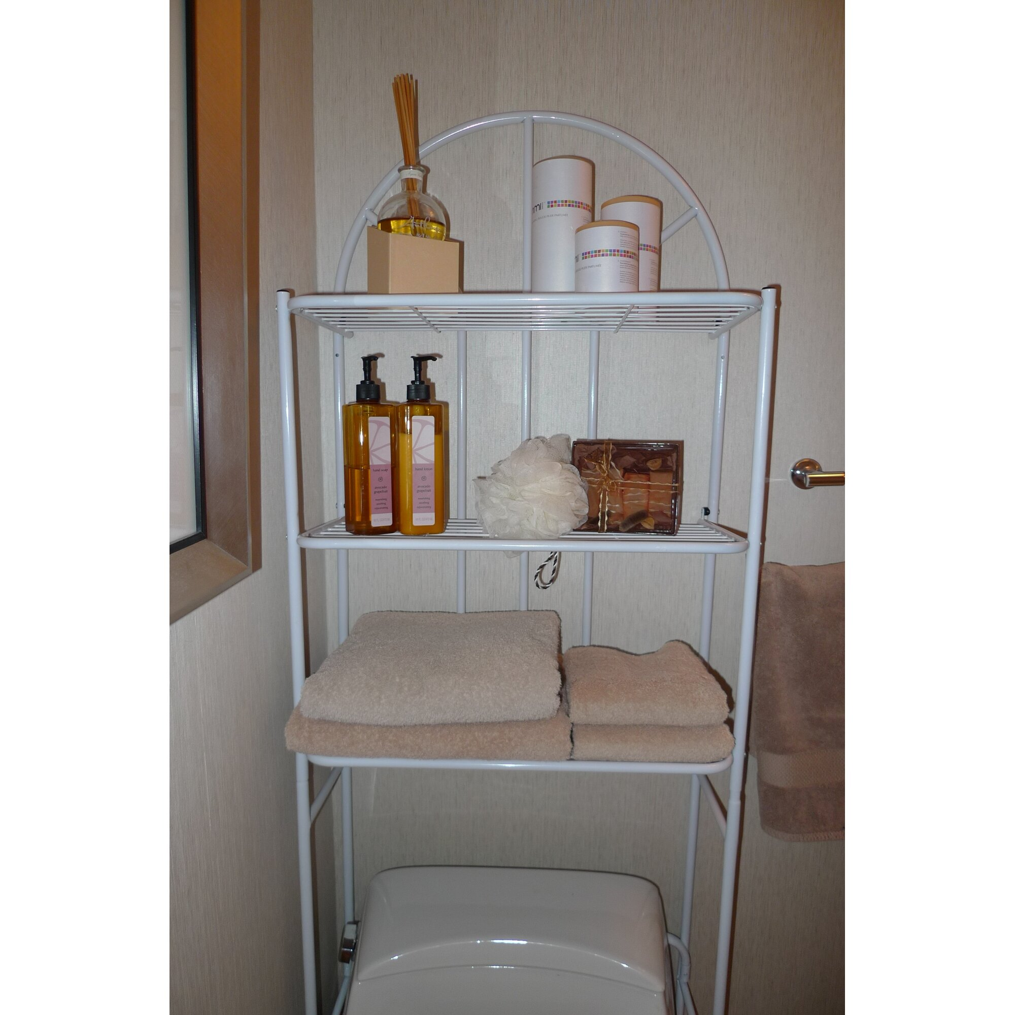 Rebrilliant Free Standing 23 2 Quot W X 69 Quot H Over The Toilet