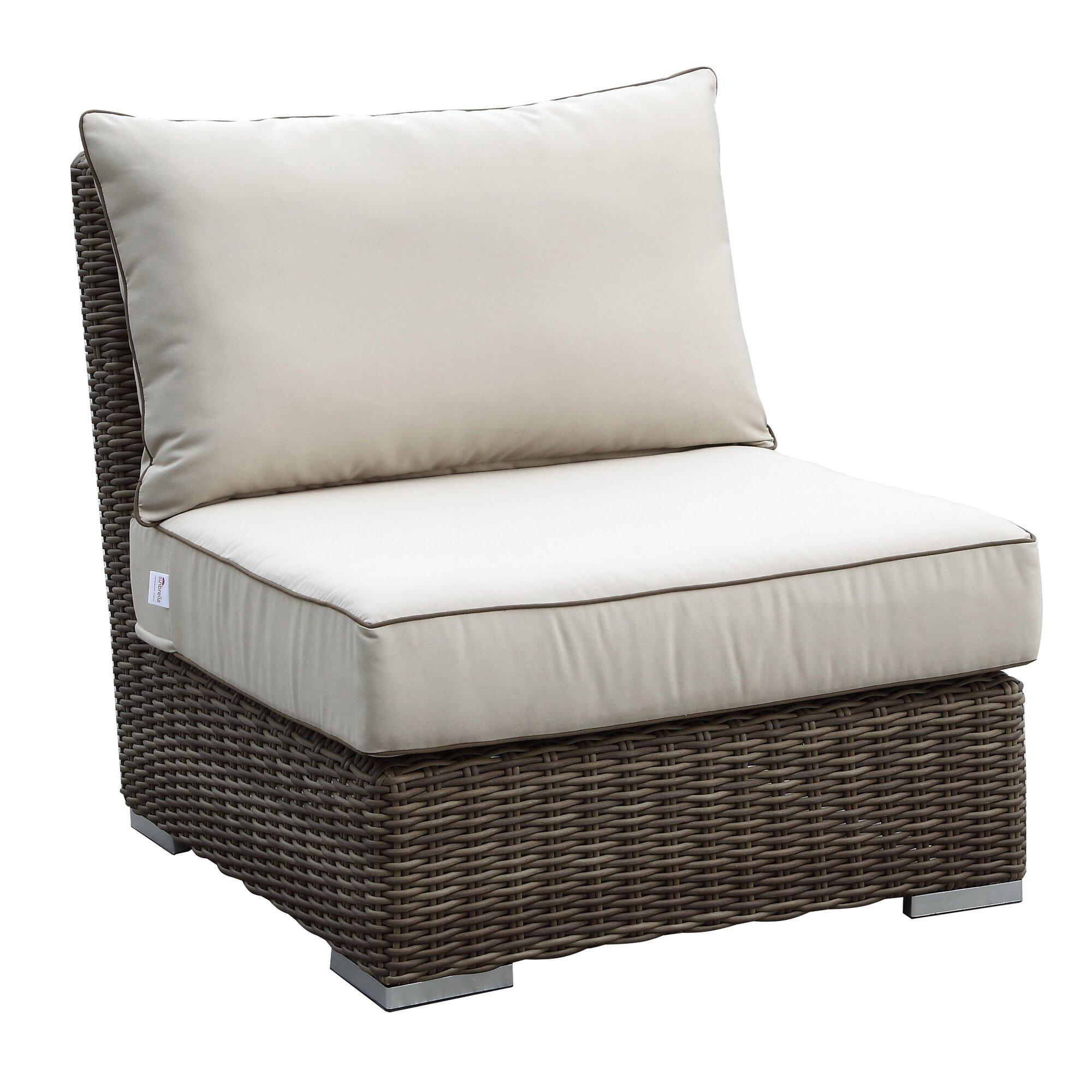 Armless club chairs - Hasler Armless Club Chair With Cushions