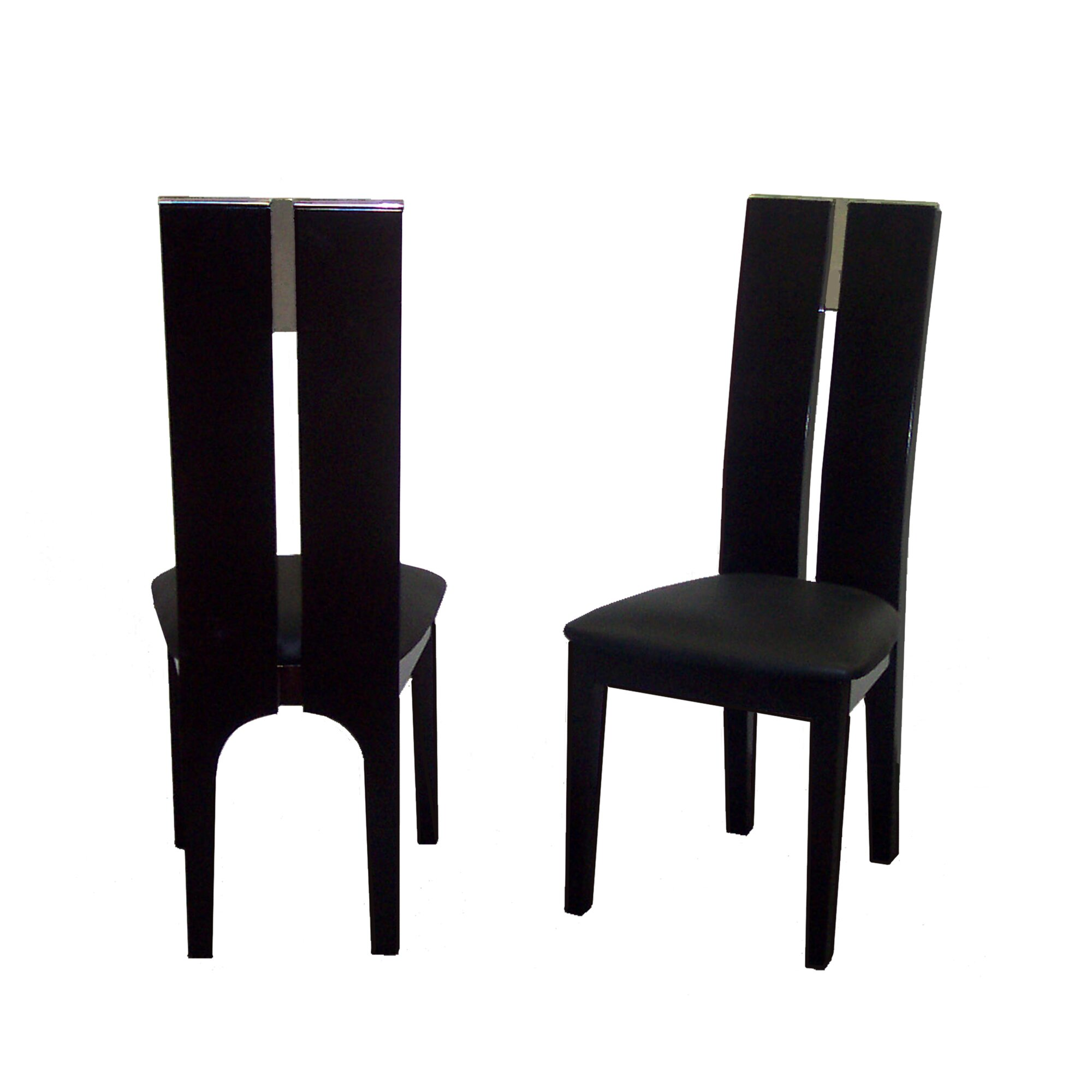 Black upholstered dining chairs - Avanti Genuine Leather Upholstered Dining Chair