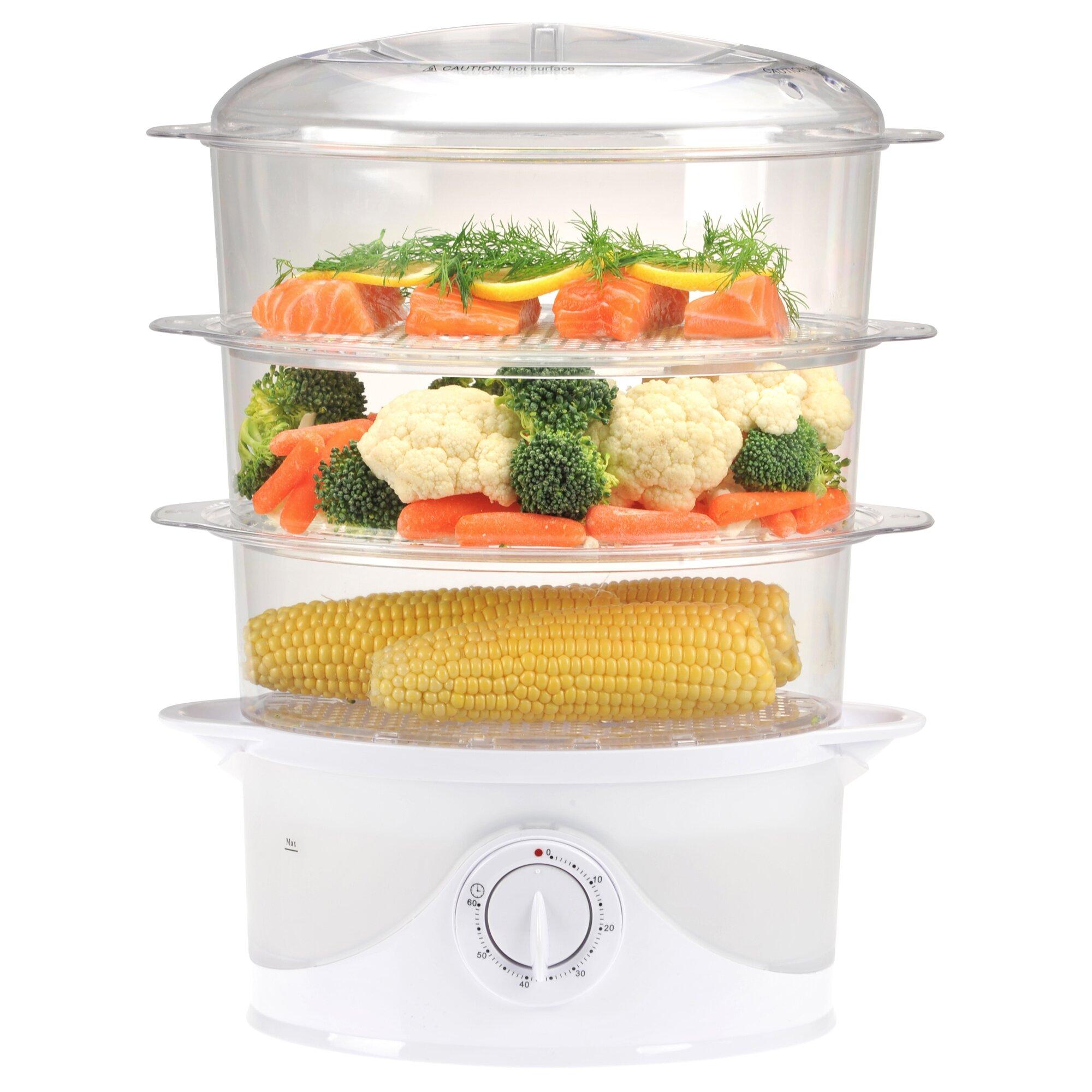 Uncategorized Kitchen Steamer Appliance kalorik 3 tier 9 5 qt food steamer reviews wayfair steamer