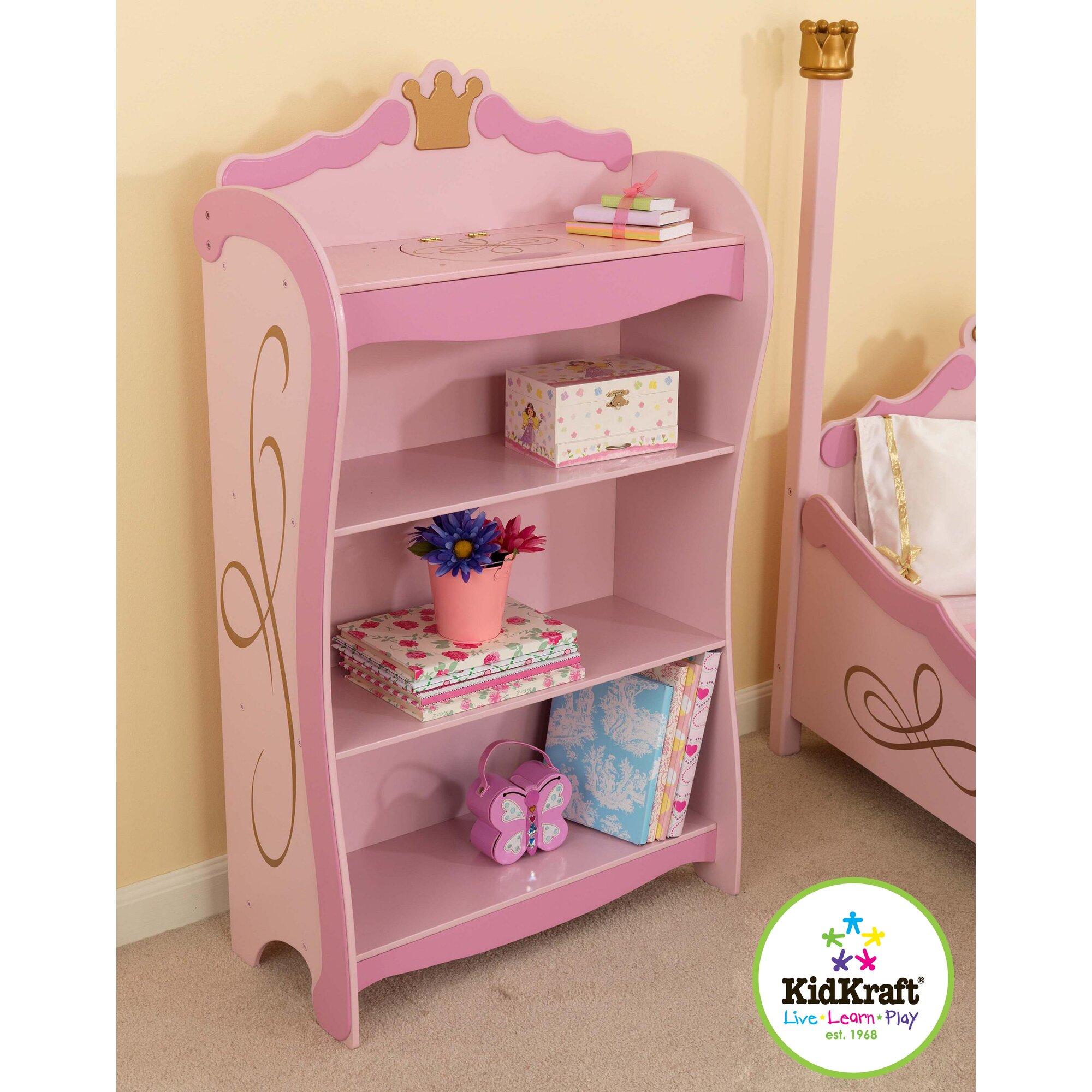 KidKraft Princess Toddler Four Poster Customizable Bedroom