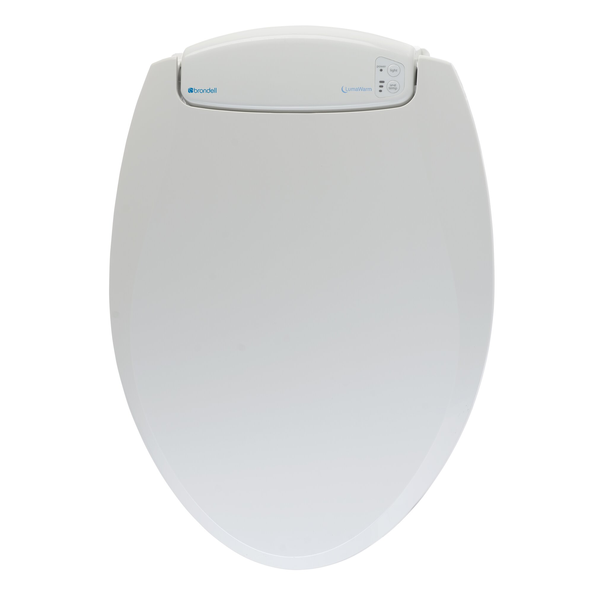 Brondell LumaWarm Heated Nightlight Toilet Seat  Reviews Wayfair - Oak toilet seat soft close