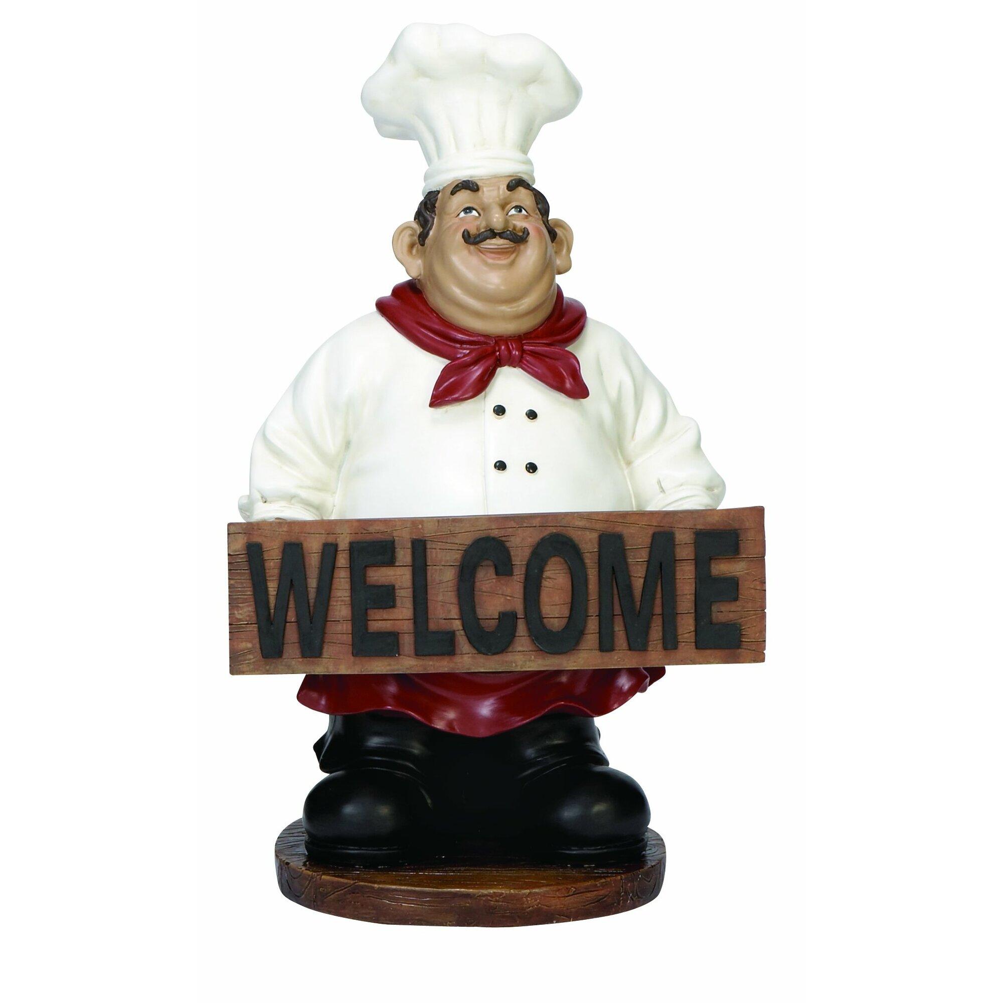 Springtime Wreaths Woodland Imports Welcome Chef Figurine Amp Reviews Wayfair