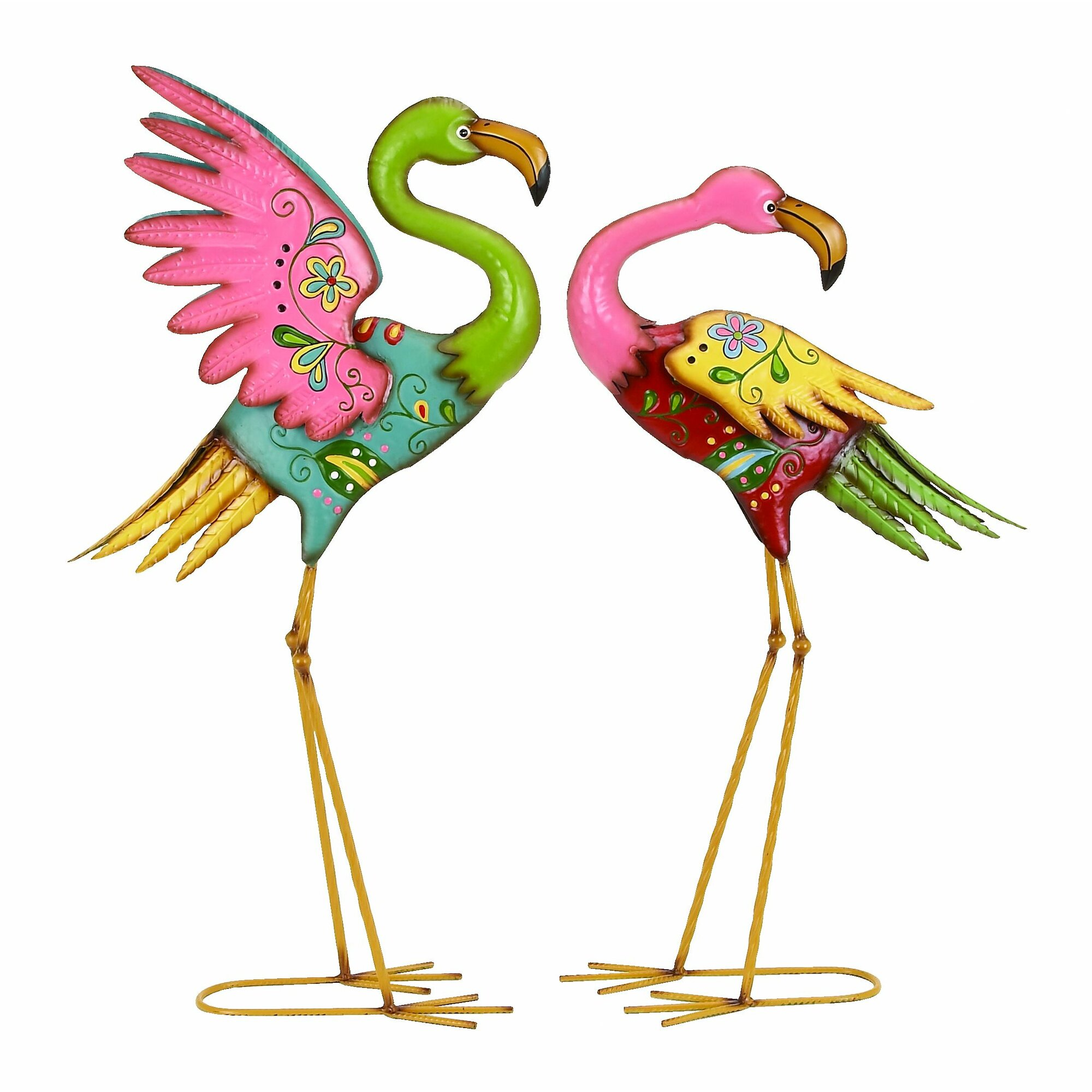 Flamingo garden ornament - Outdoor Garden Flamingo Statue Set