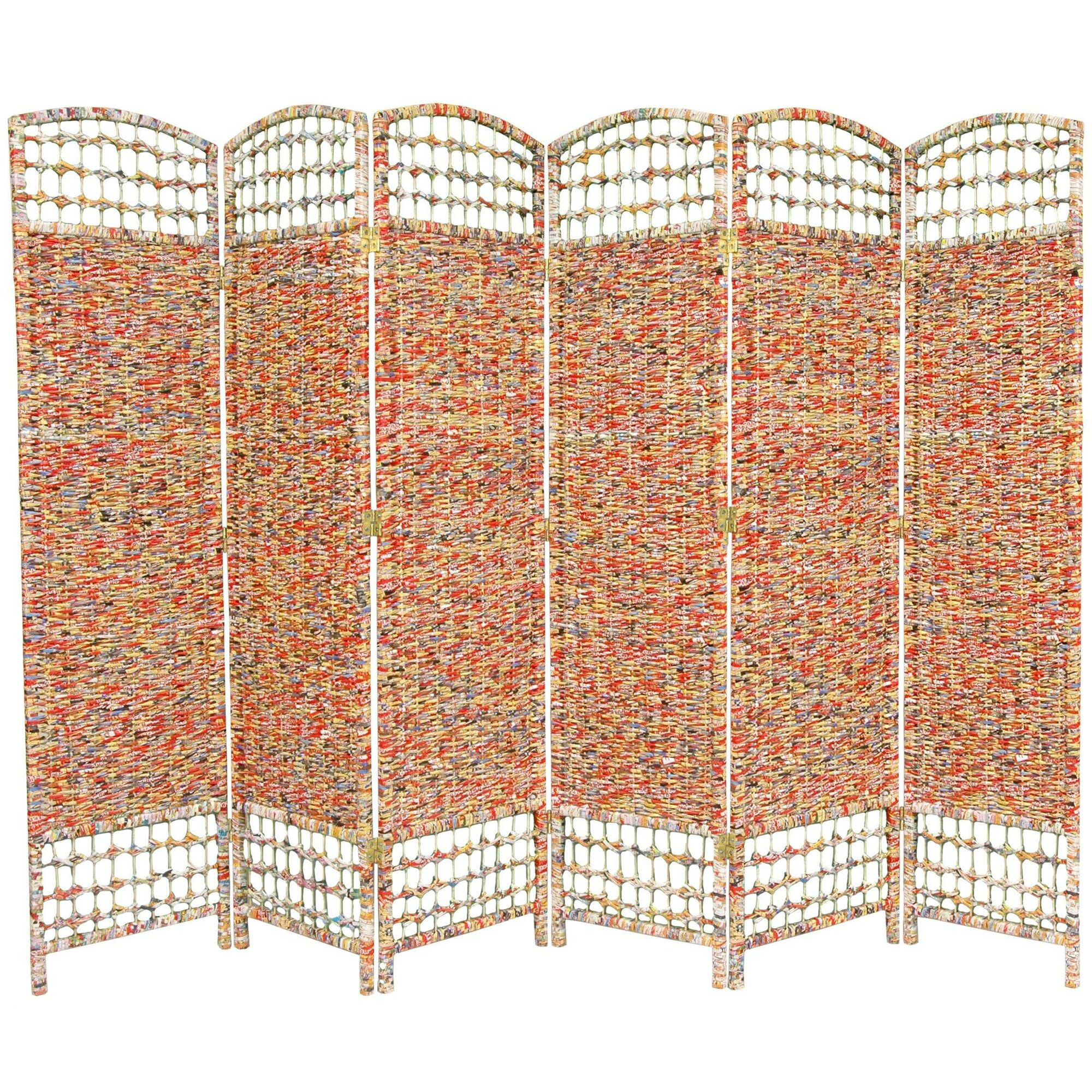 67 X 94 5 Recycled Magazine 6 Panel Room Divider