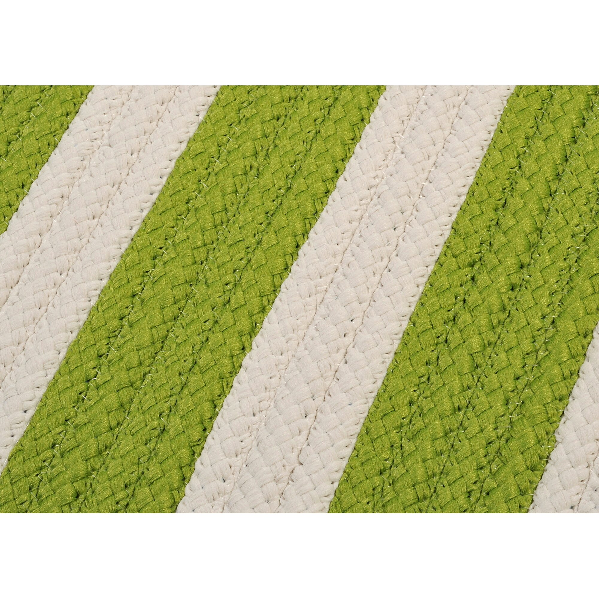 Bright Outdoor Area Rugs: Colonial Mills Stripe It Bright Lime Indoor/Outdoor Area