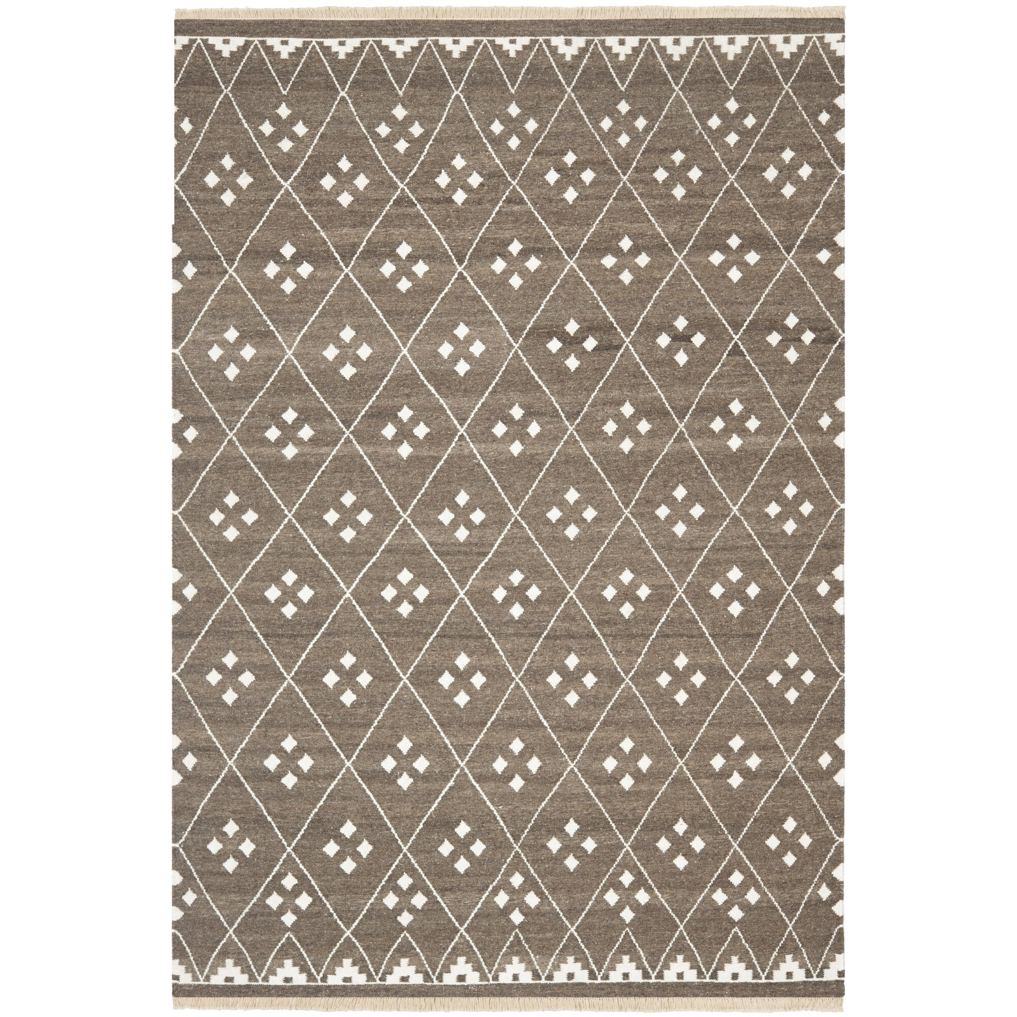 Safavieh Natural Kilim Dhurrie Brown Amp Ivory Area Rug